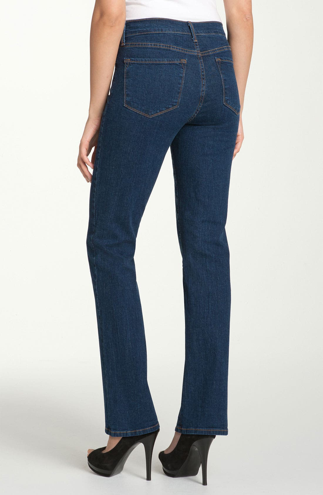 Alternate Image 2  - NYDJ 'Marilyn' Stretch Straight Leg Jeans (Denim) (Regular & Petite)