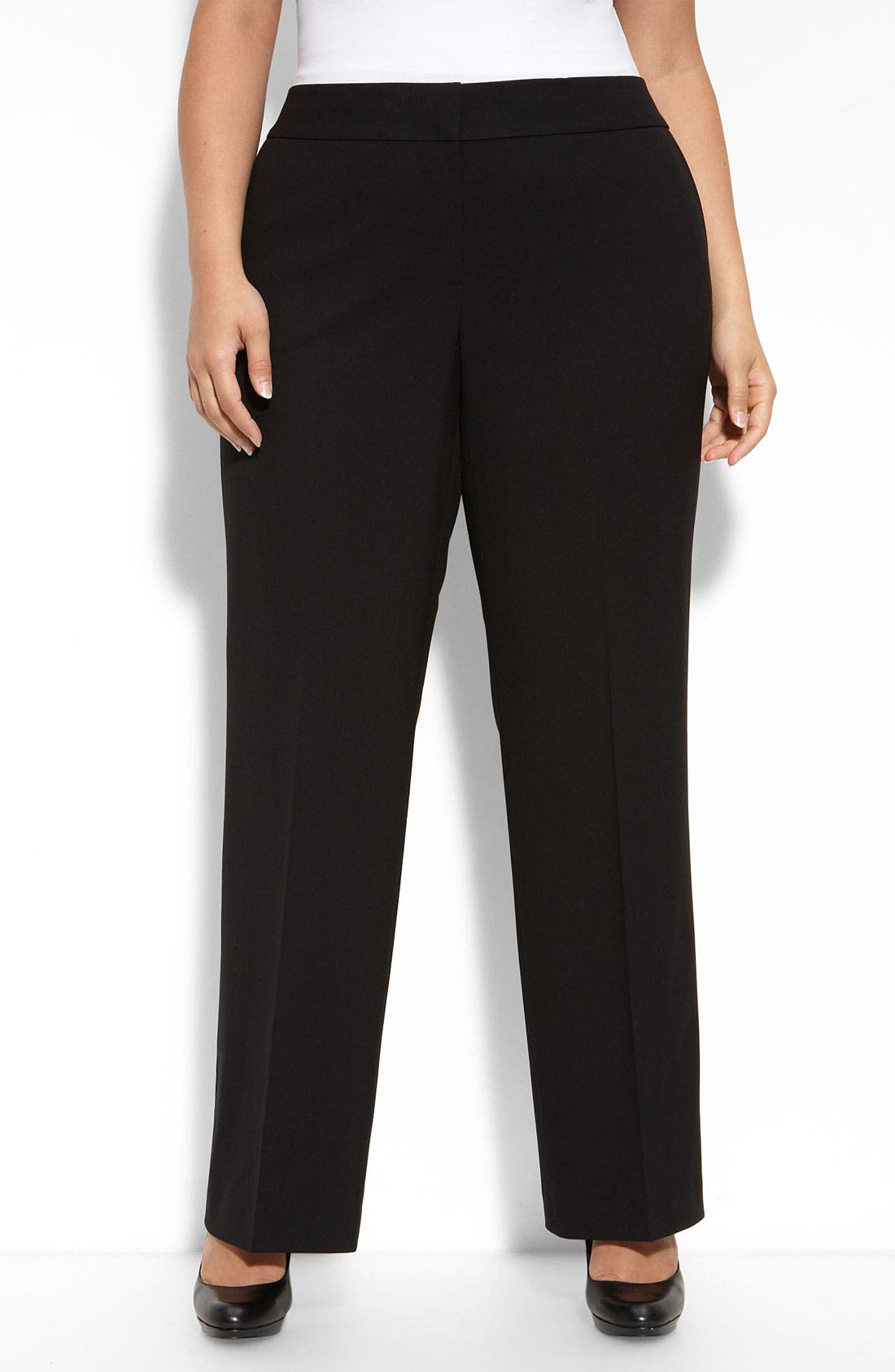 Main Image - Sejour Straight Fit Pants (Plus)