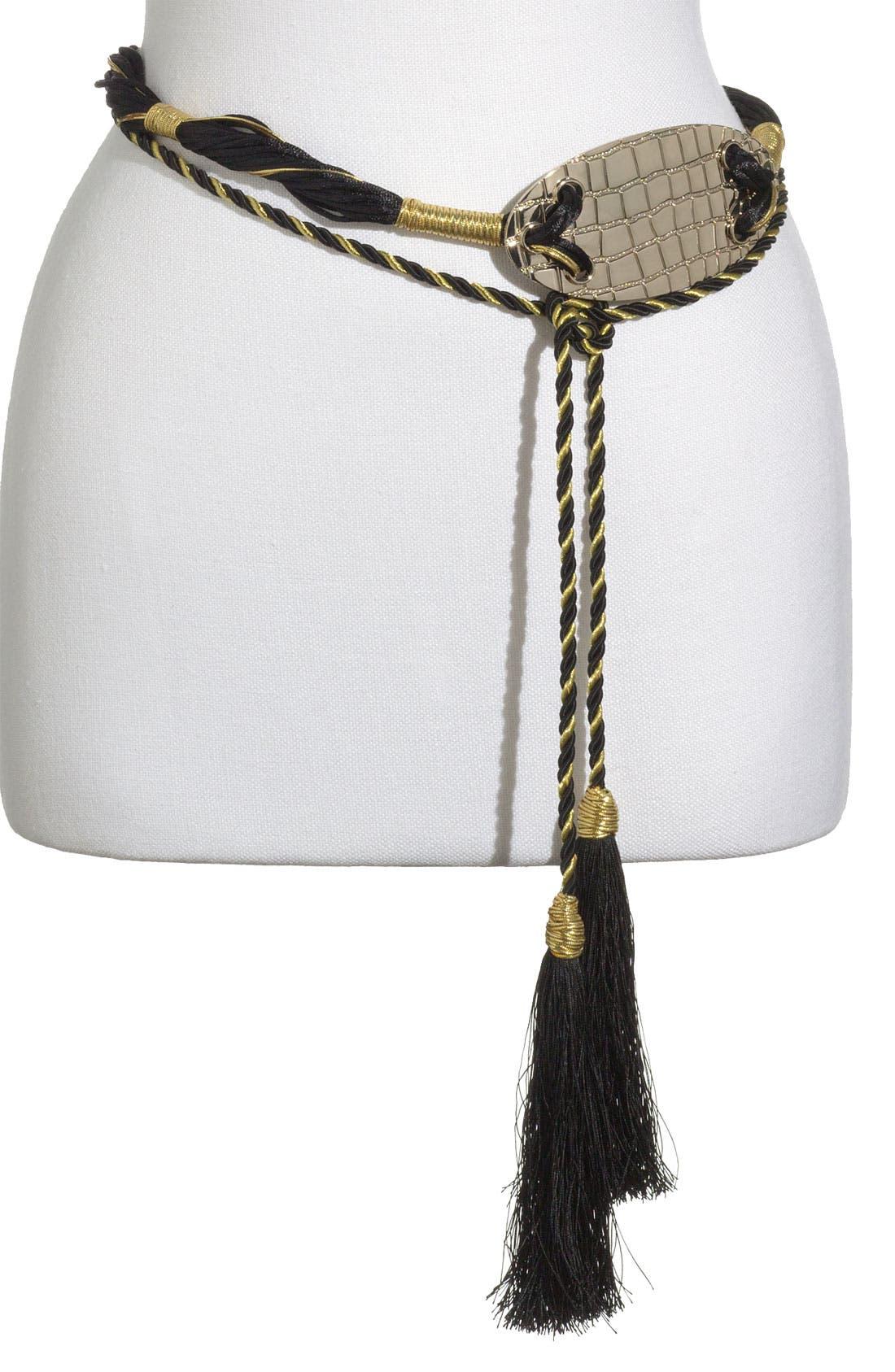 Alternate Image 1 Selected - Raina 'The Croco' Rope Belt