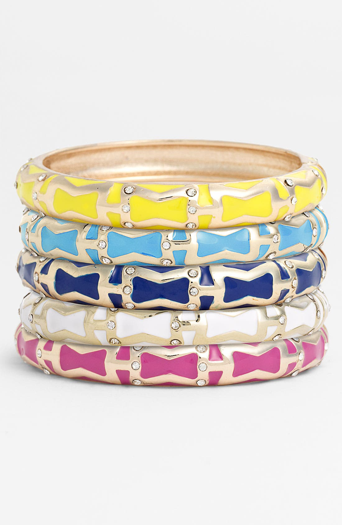 Main Image - Sequin 'Brights' Small Enamel Bangle