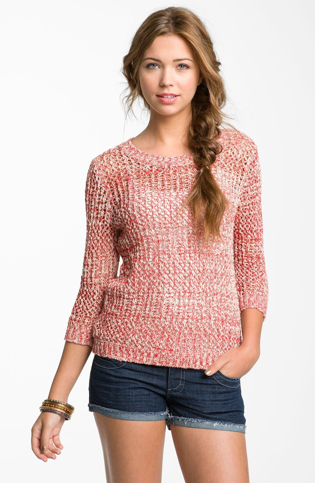 Alternate Image 1 Selected - Rubbish® Marled Knit Sweater (Juniors)