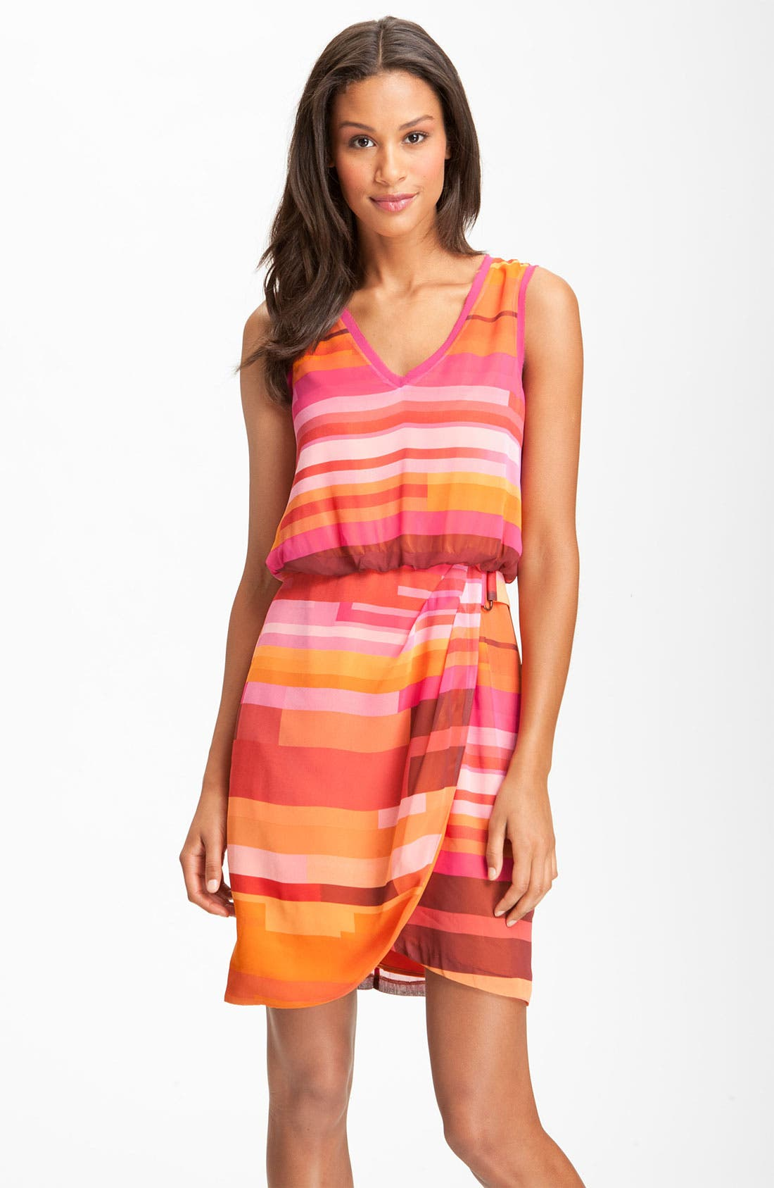 Alternate Image 1 Selected - Vince Camuto Sleeveless Faux Wrap Dress