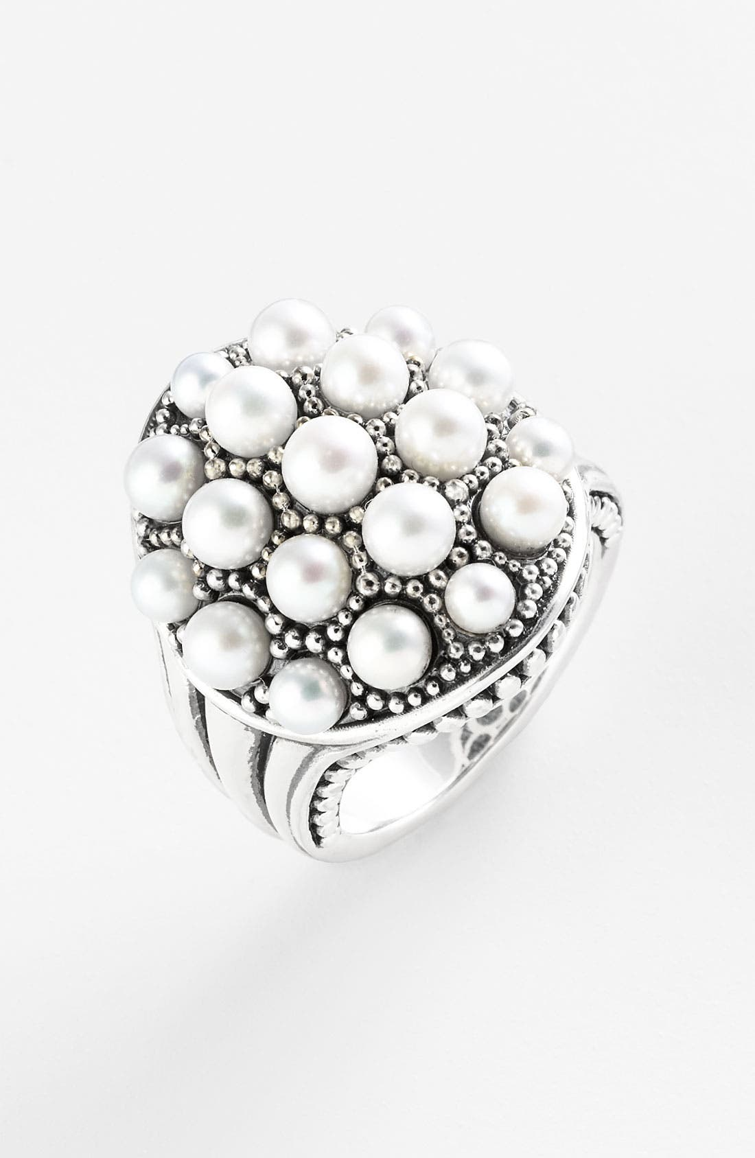 Alternate Image 1 Selected - LAGOS 'Luna' Pearl Dome Statement Ring