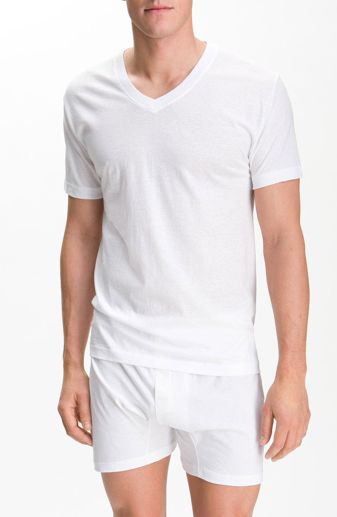 Alternate Image 1 Selected - 2(x)ist Pima Cotton V-Neck T-Shirt