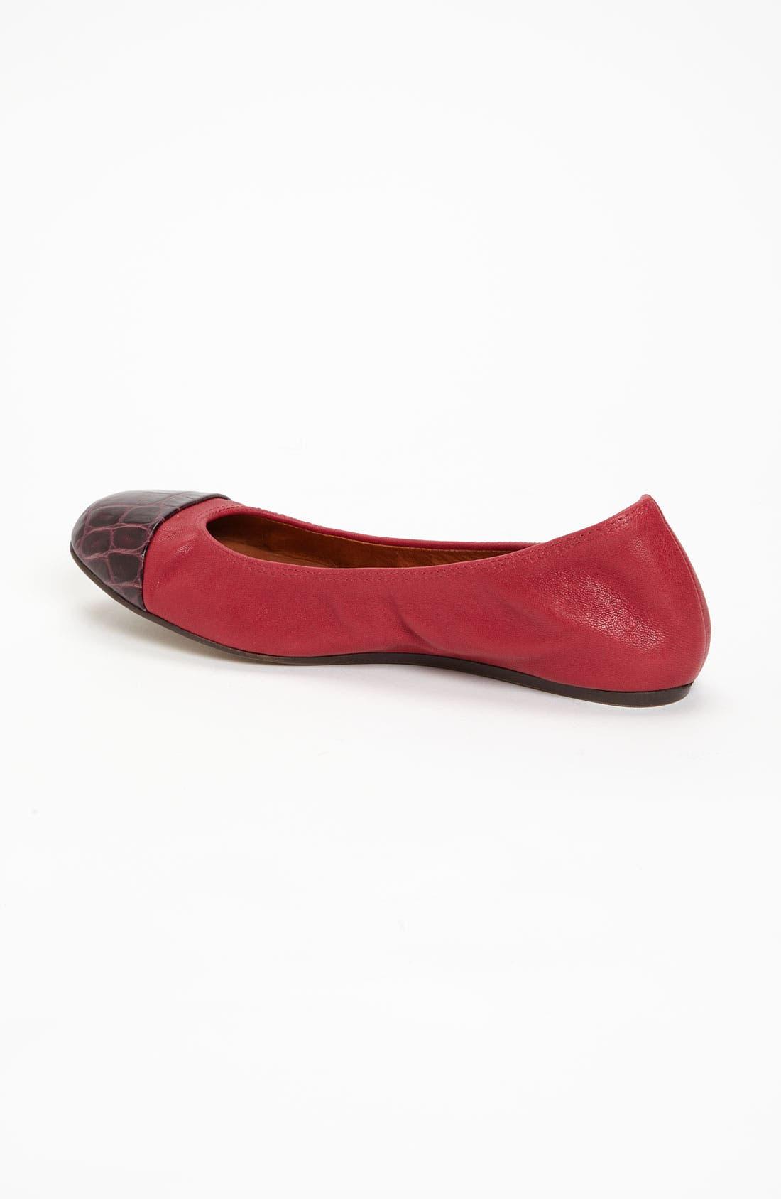 Alternate Image 2  - Lanvin Cap Toe Ballerina Flat