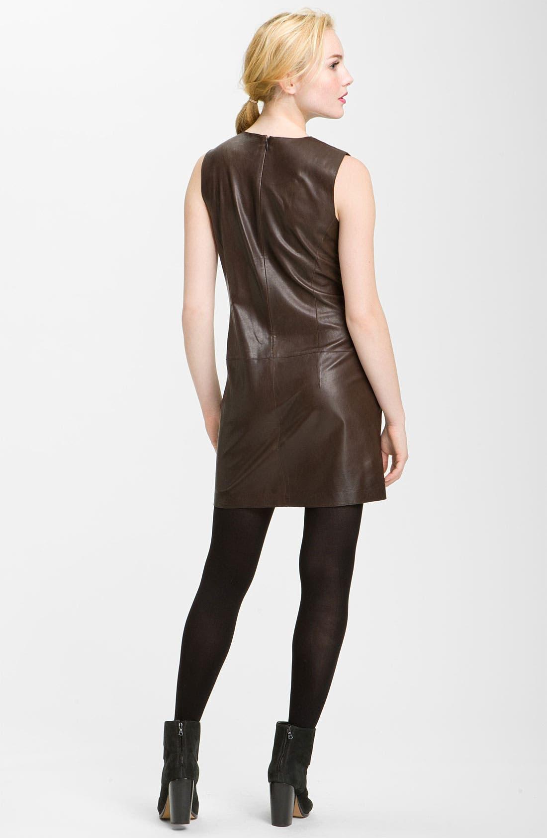 Alternate Image 2  - Vince Leather Shift Dress