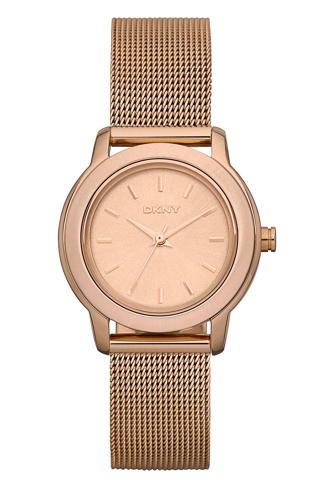 Alternate Image 1 Selected - DKNY 'Tompkins' Mesh Bracelet Watch, 28mm