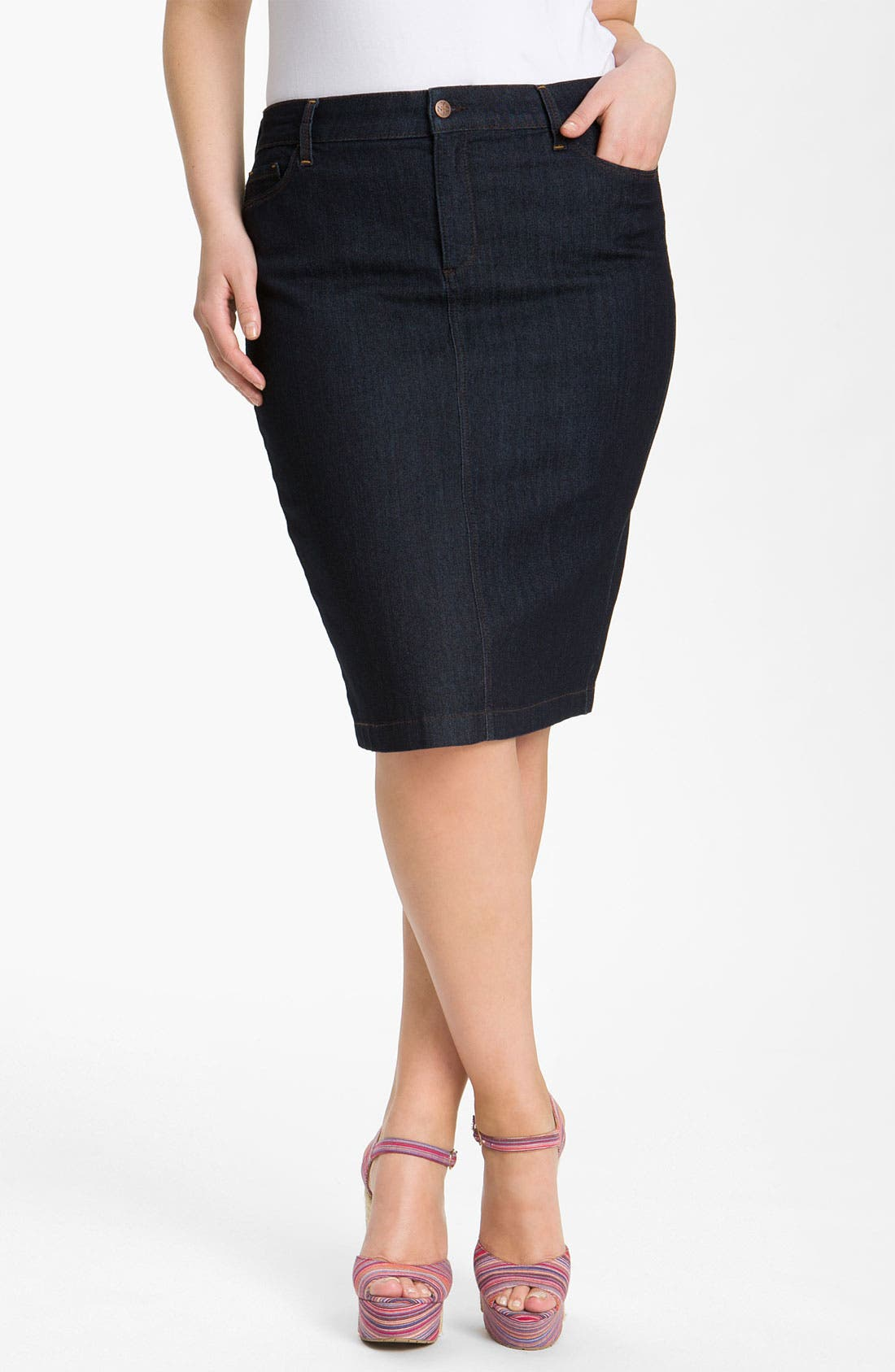 Alternate Image 1 Selected - NYDJ 'Emma' Stretch Twill Skirt (Plus Size)