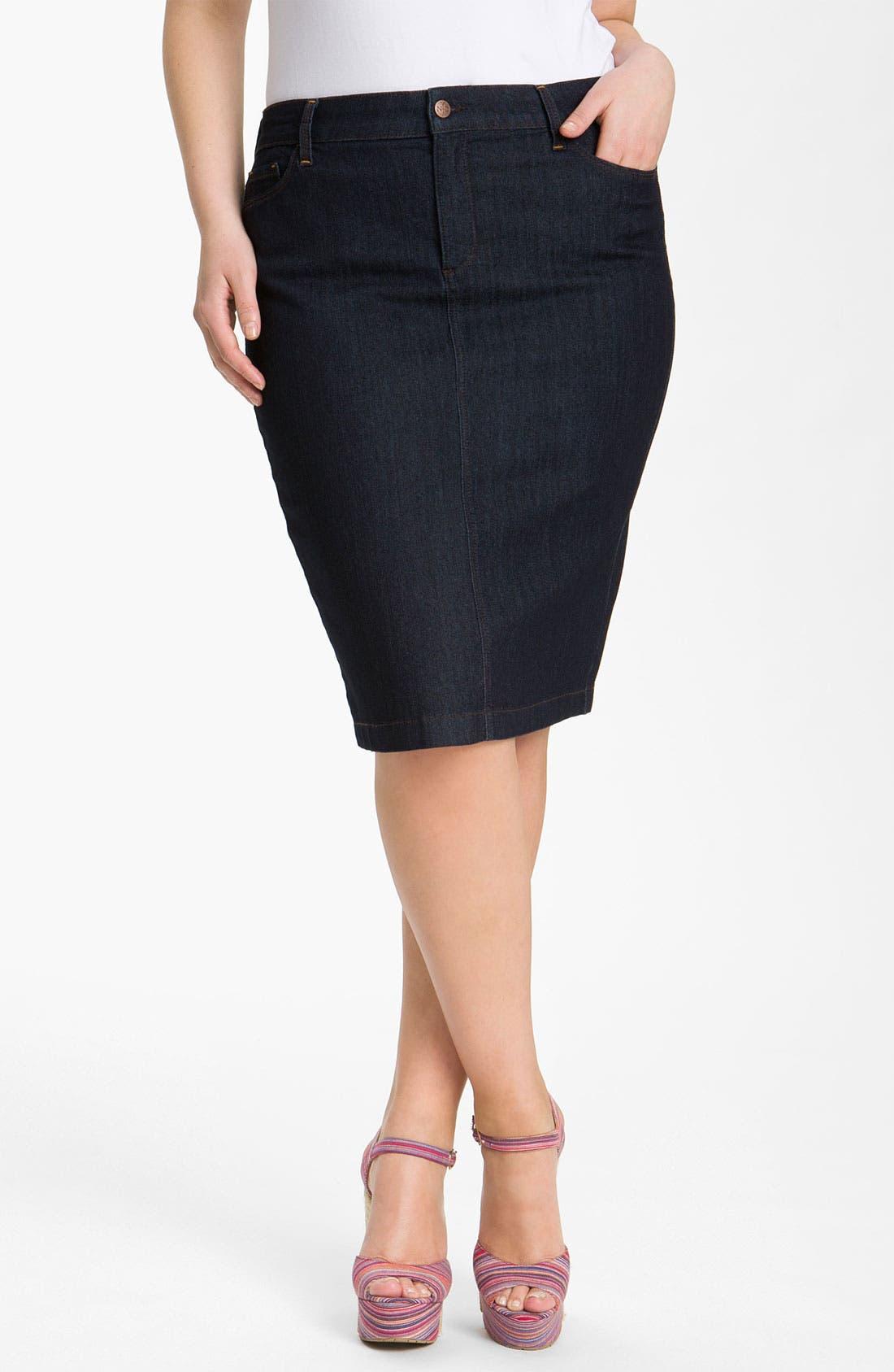 Main Image - NYDJ 'Emma' Stretch Twill Skirt (Plus Size)