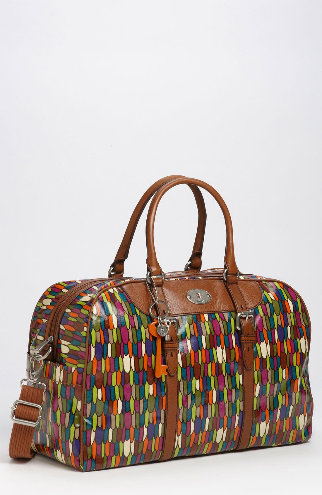 Main Image - Fossil 'Vintage Key-Per' Coated Canvas Duffel Bag