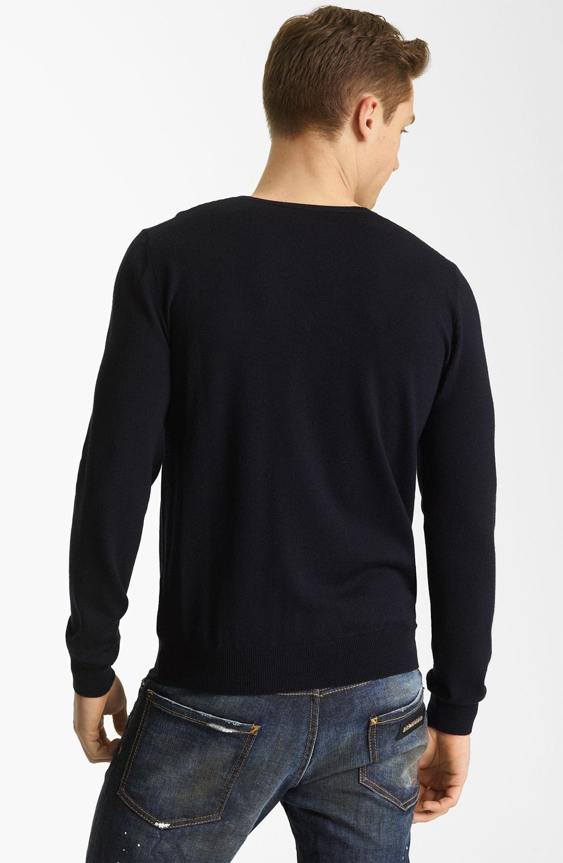 Alternate Image 2  - Dsquared2 V-Neck Wool Sweater