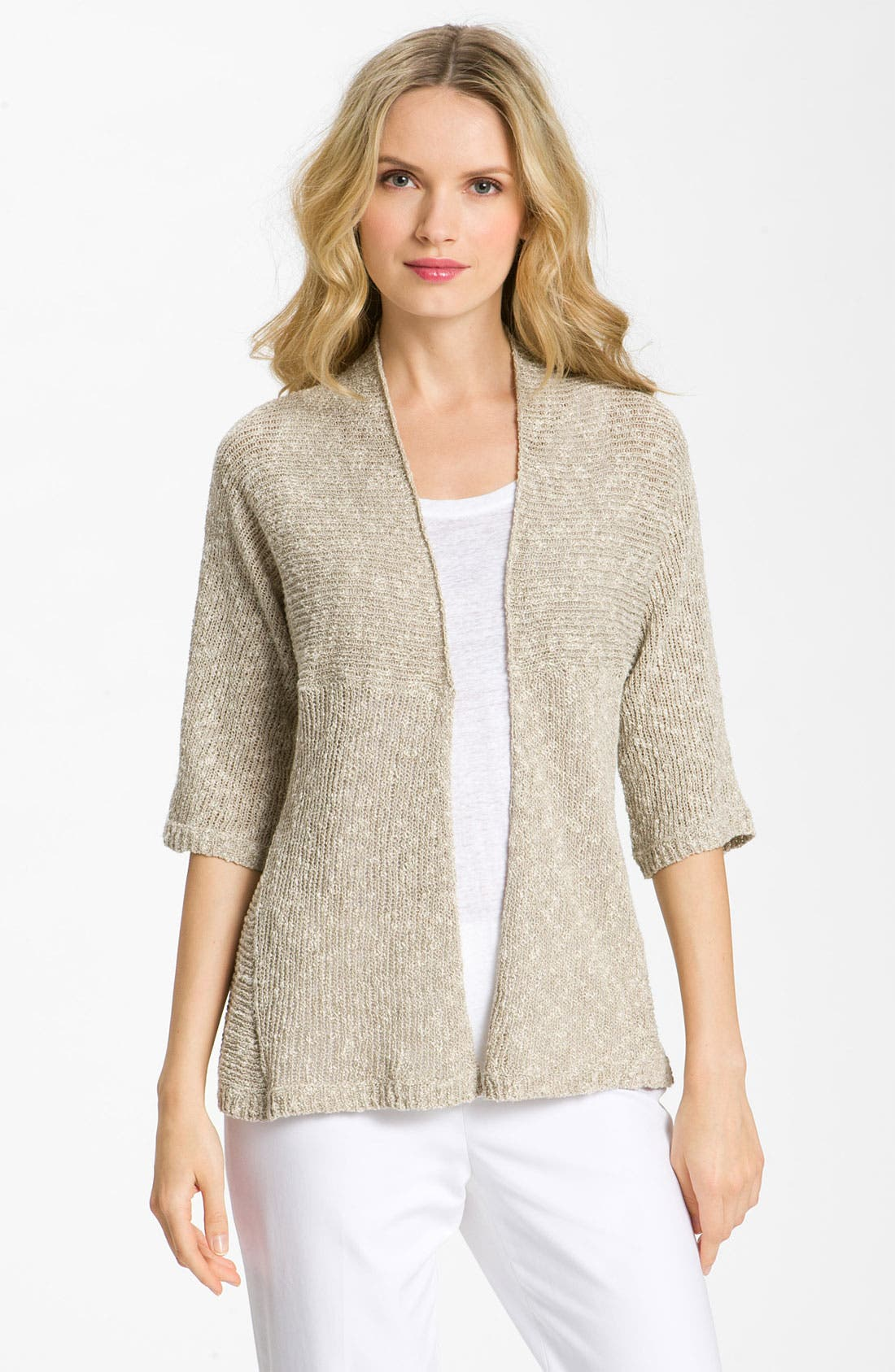 Alternate Image 1 Selected - Eileen Fisher Shaped Cardigan (Petite)