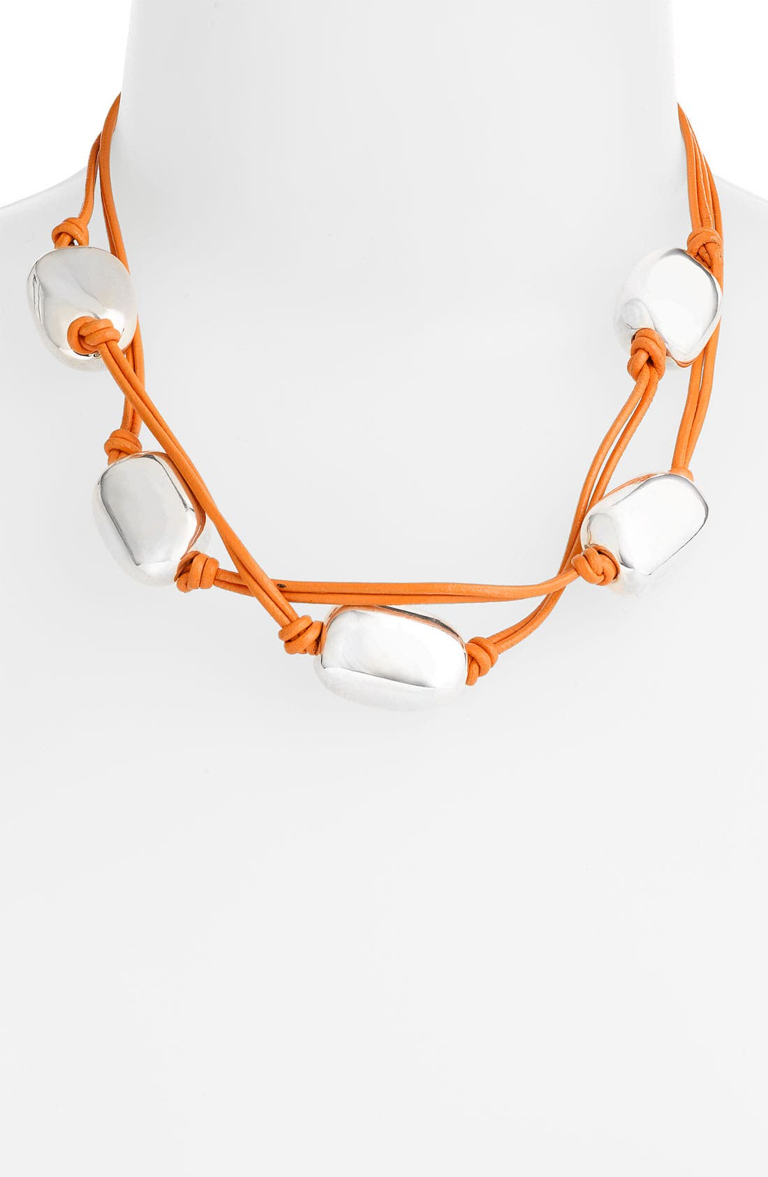 Alternate Image 1 Selected - Simon Sebbag 5-Bead Leather Necklace