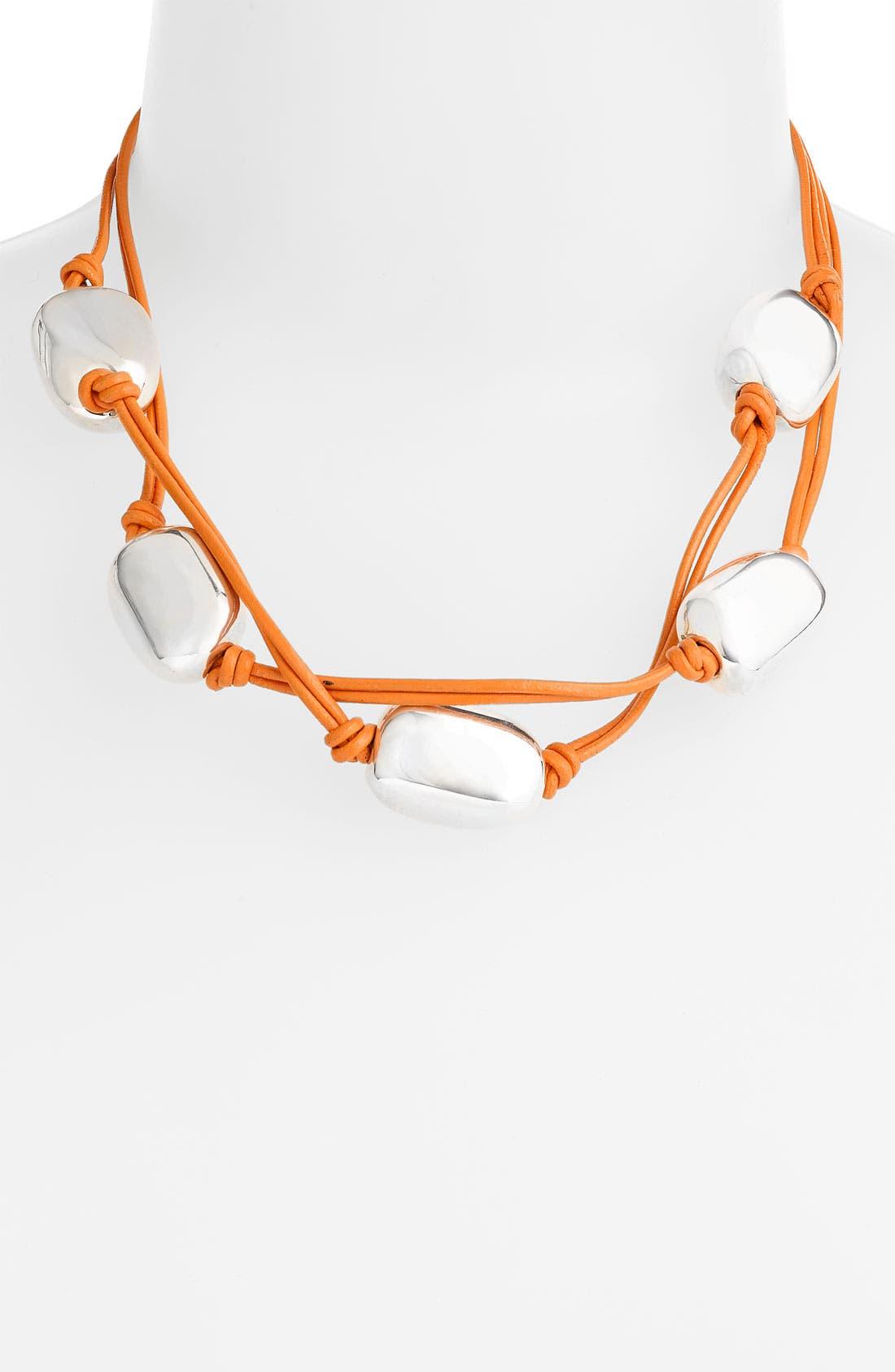 Main Image - Simon Sebbag 5-Bead Leather Necklace