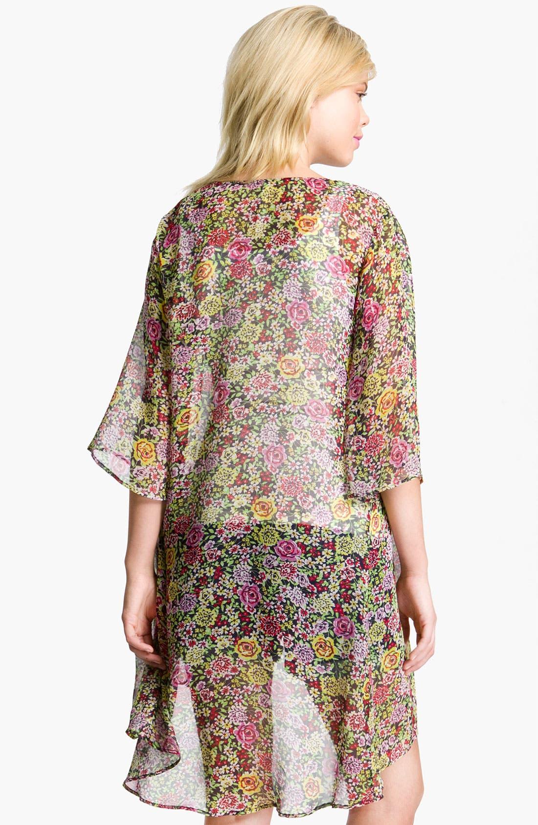 Alternate Image 2  - Bellatrix Floral Print Chiffon Robe