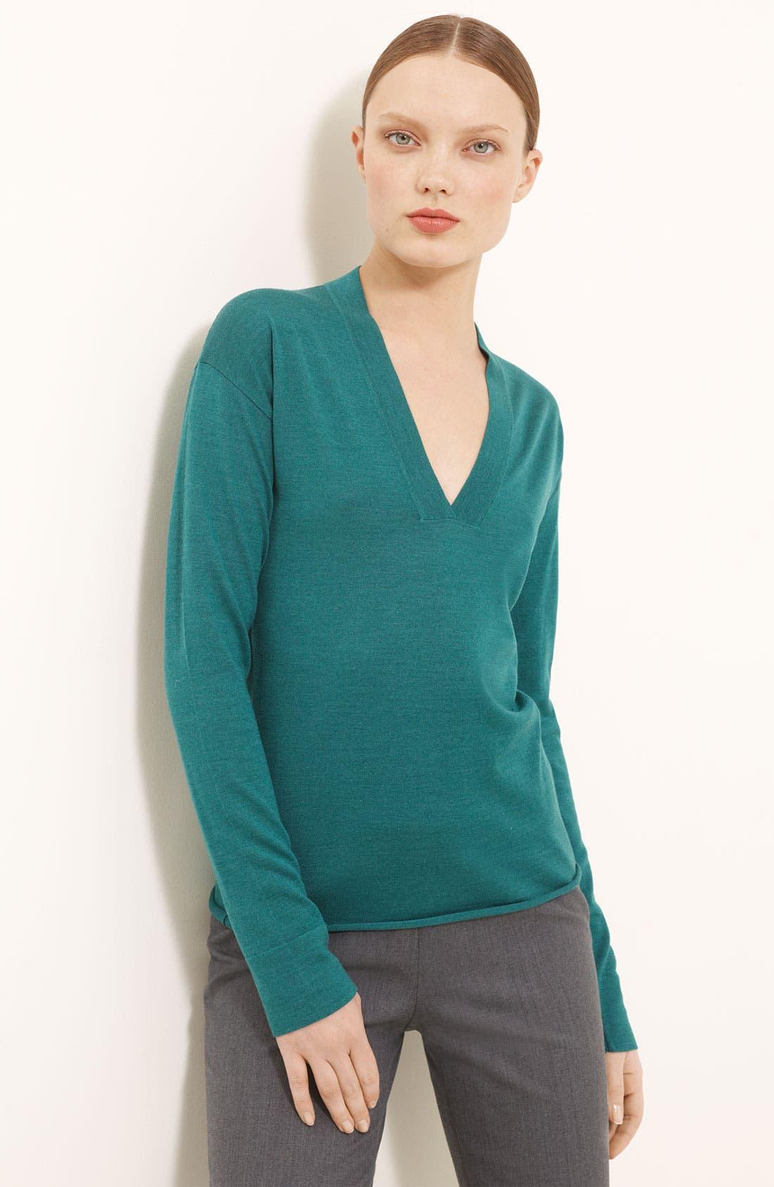 Alternate Image 1 Selected - Piazza Sempione Wool & Silk Knit Top