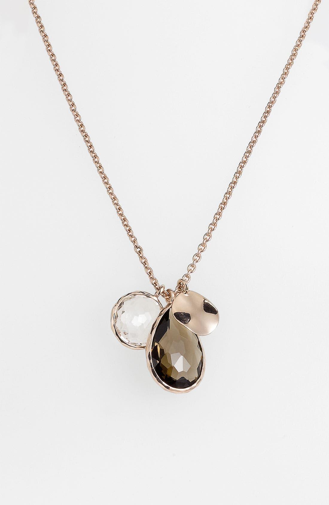Main Image - Ippolita Triple Charm Rosé Necklace (Nordstrom Exclusive)