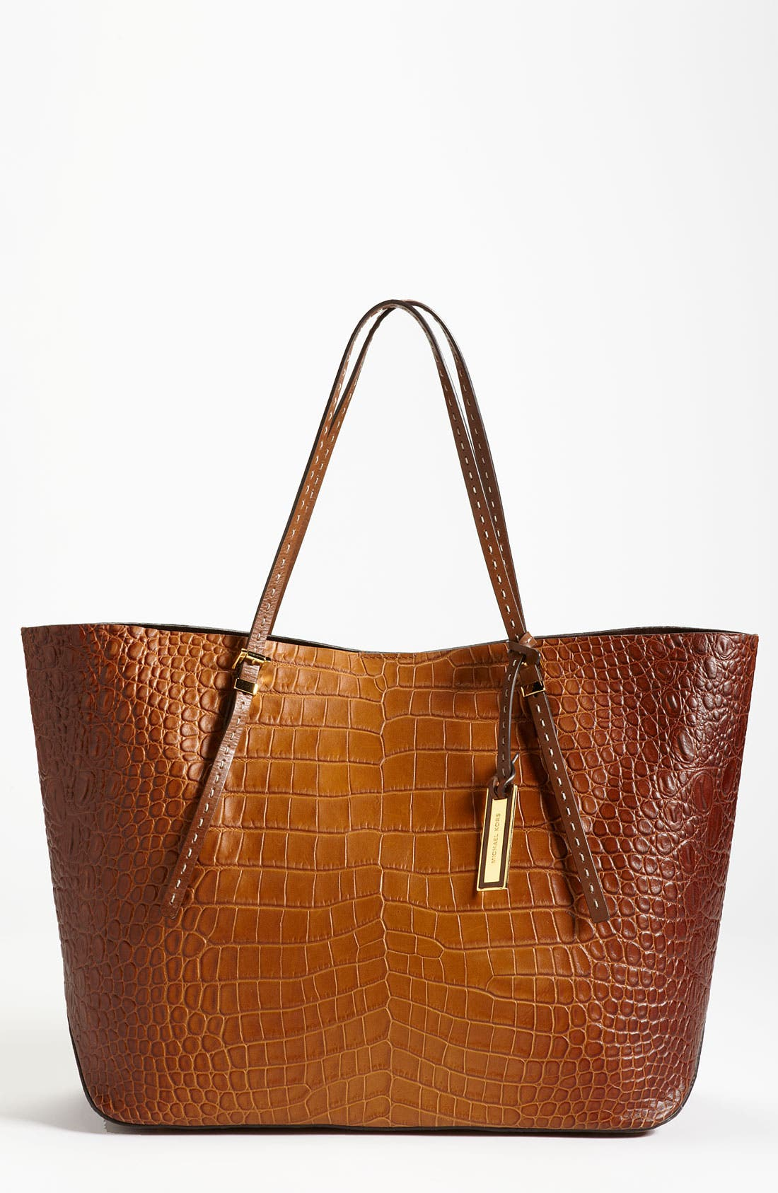 Alternate Image 1 Selected - Michael Kors Croc Embossed Leather Tote