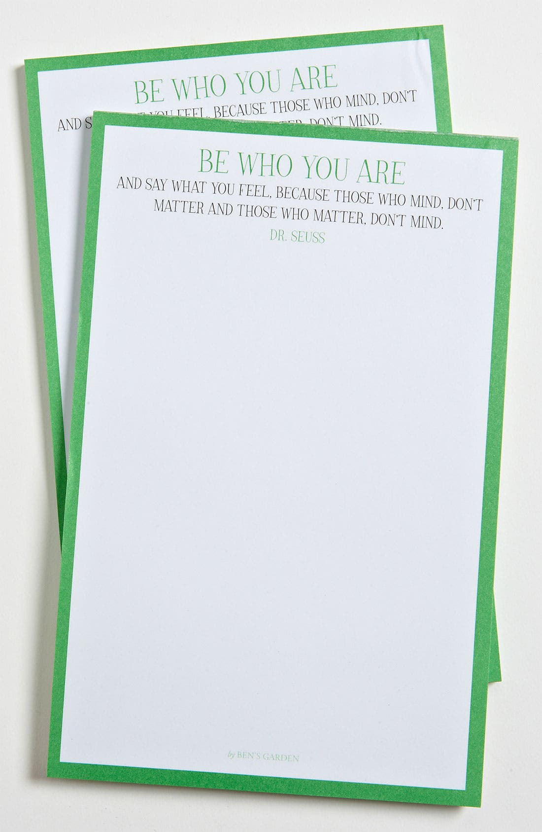 Alternate Image 1 Selected - Ben's Garden 'Be Who You Are' Notepads (2-Pack)