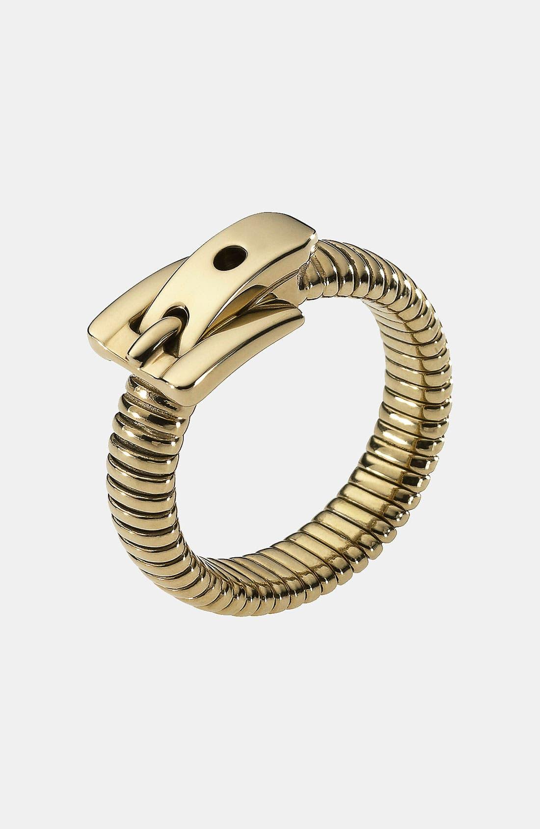 Alternate Image 1 Selected - Michael Kors 'Heritage' Buckle Ring