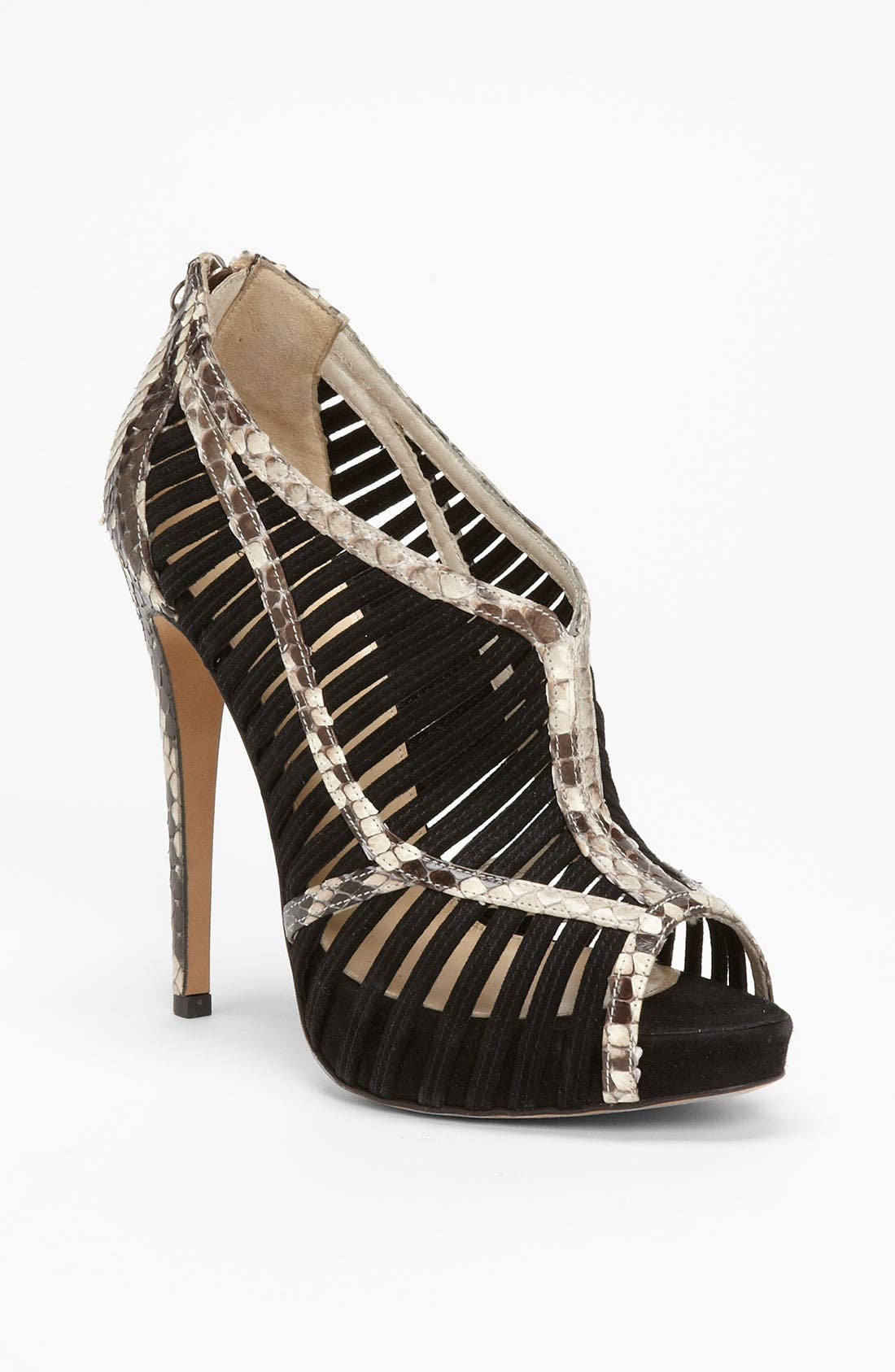 Main Image - Alexandre Birman Genuine Python Caged Sandal
