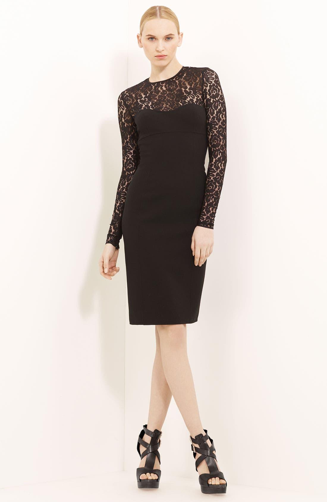 Alternate Image 1 Selected - Michael Kors Lace & Crepe Dress