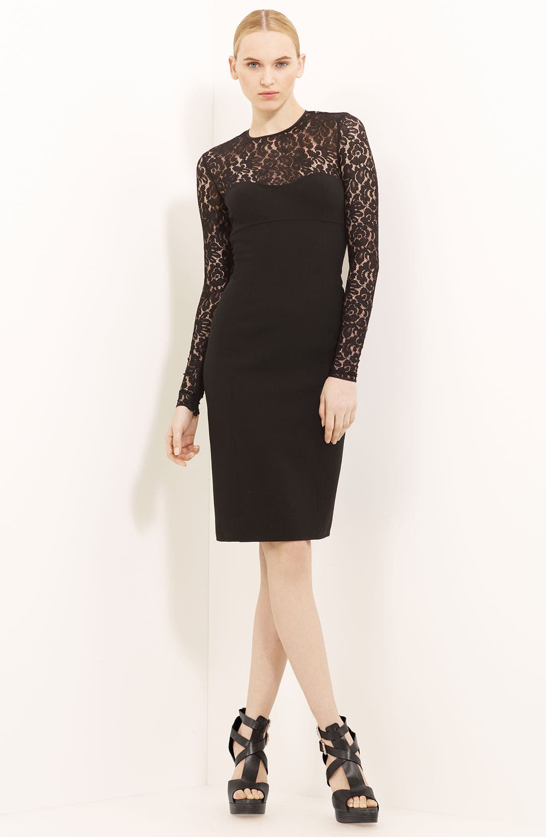 Main Image - Michael Kors Lace & Crepe Dress