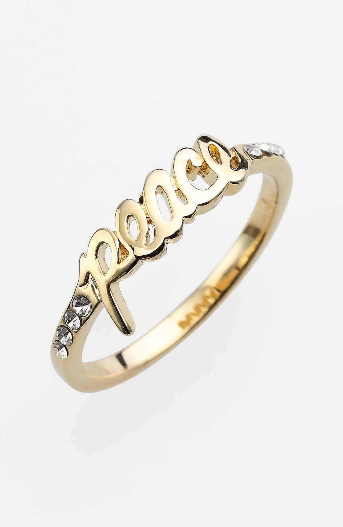 Alternate Image 1 Selected - Ariella Collection 'Messages - Peace' Script Ring (Nordstrom Exclusive)