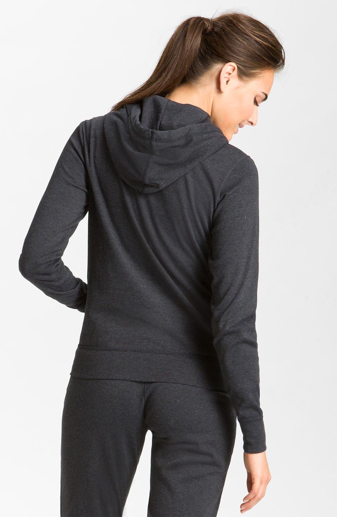 Alternate Image 2  - Nike Full Zip Jersey Hoodie