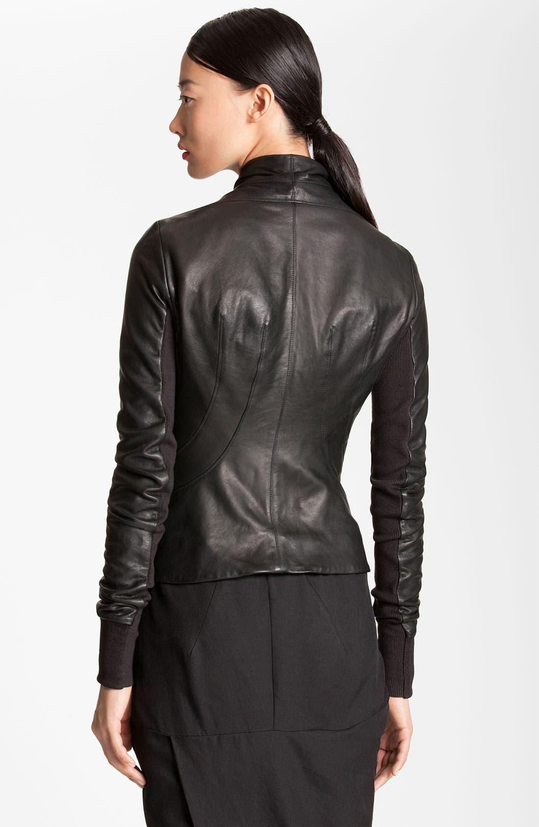 Alternate Image 2  - Rick Owens Seamed Leather Jacket