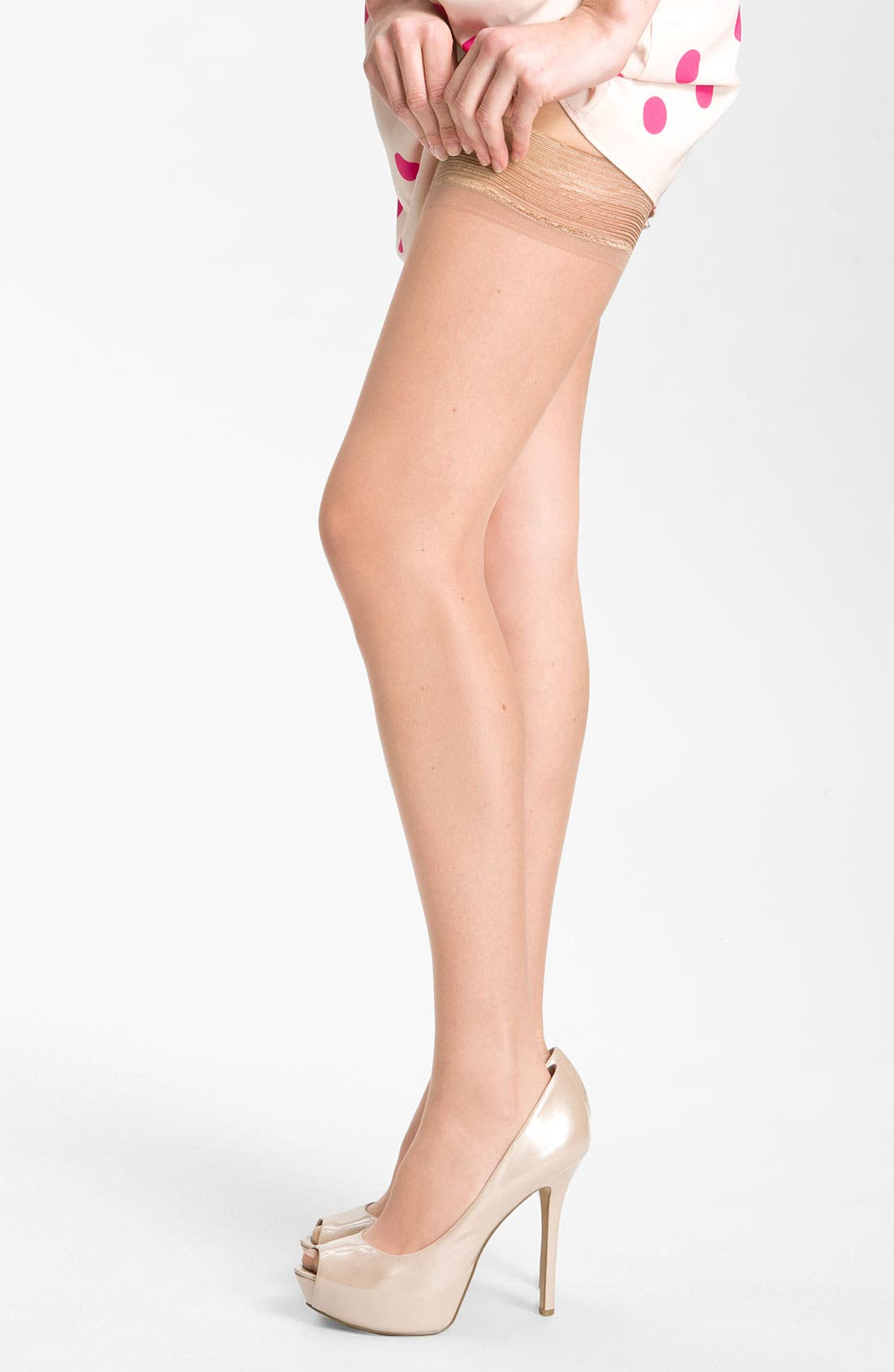 Main Image - Donna Karan 'The Nudes' Thigh High Stockings