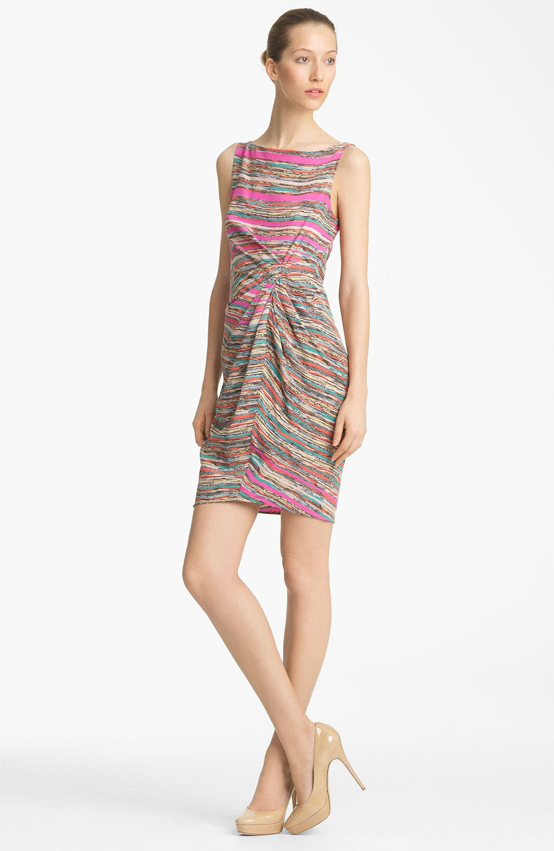Alternate Image 1 Selected - Thakoon Knot Detail Print Silk Dress
