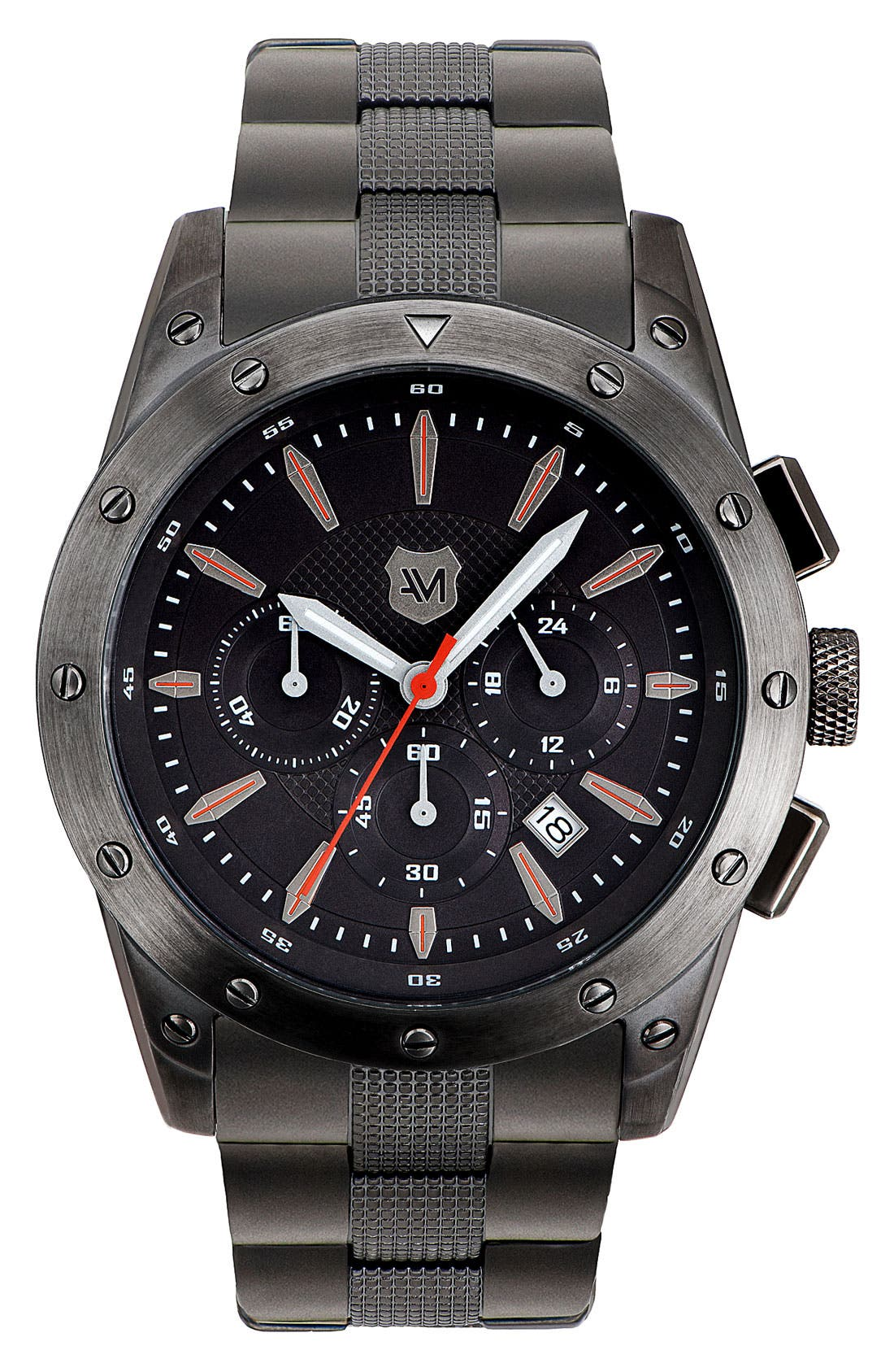 Main Image - Andrew Marc Watches 'Heritage Racer' Round Bracelet Watch