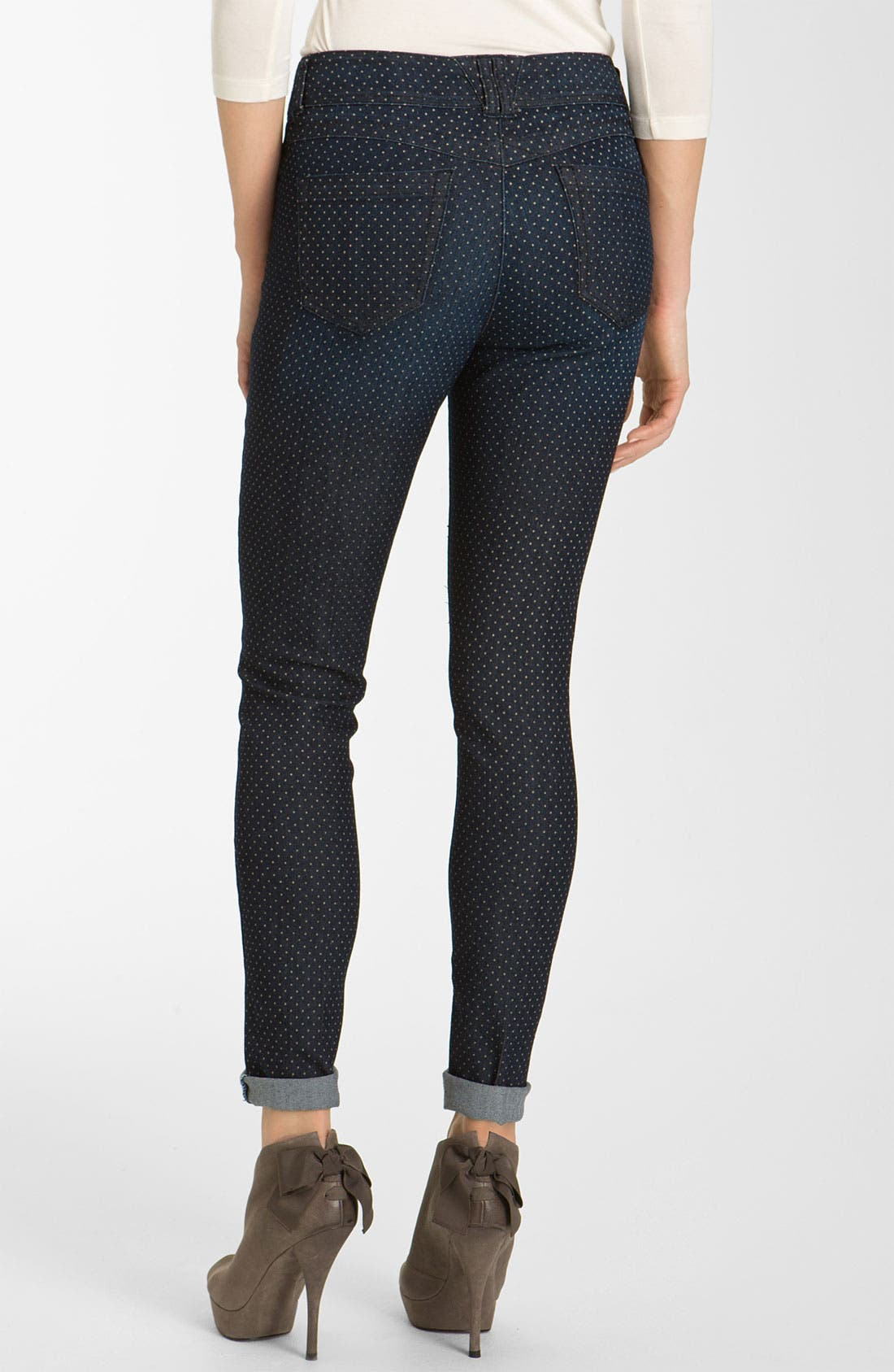 Alternate Image 2  - Wit & Wisdom Dot Print Denim Leggings (Nordstrom Exclusive)