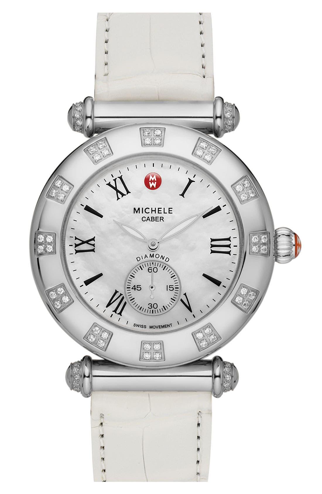 Main Image - MICHELE 'Caber Atlas' Diamond Customizable Watch