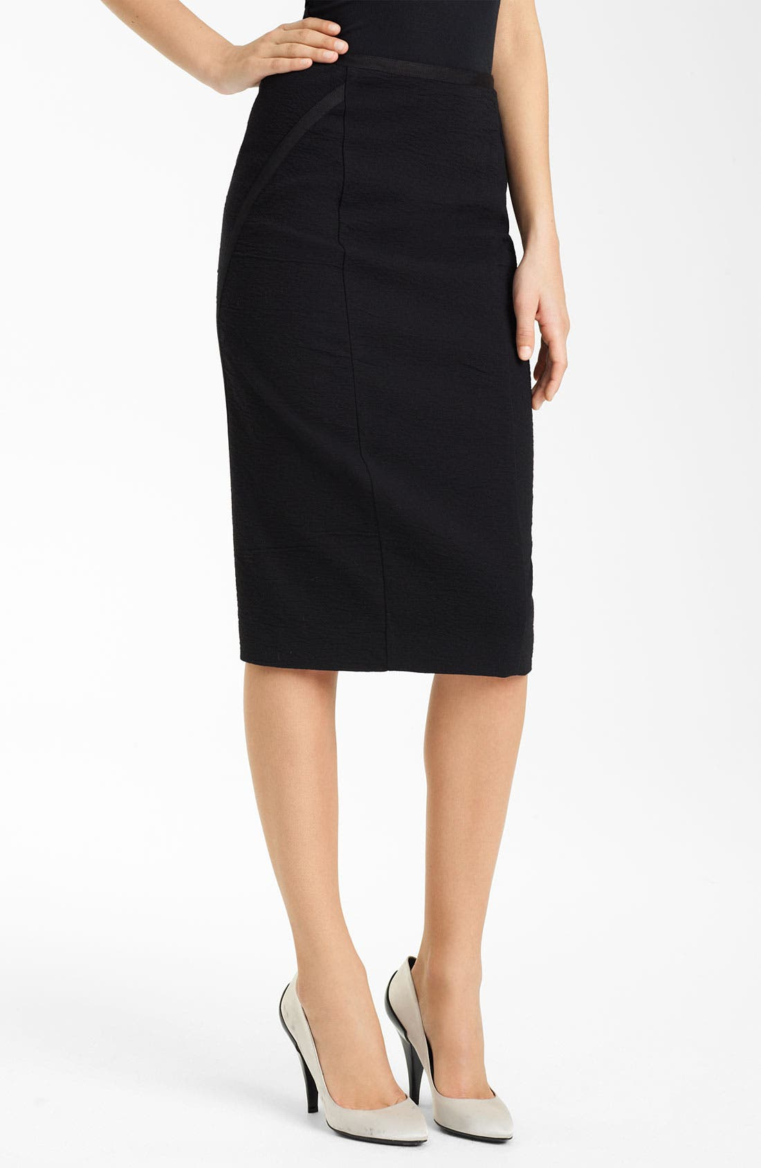 Alternate Image 1 Selected - Donna Karan Collection Crepe Canvas Pencil Skirt