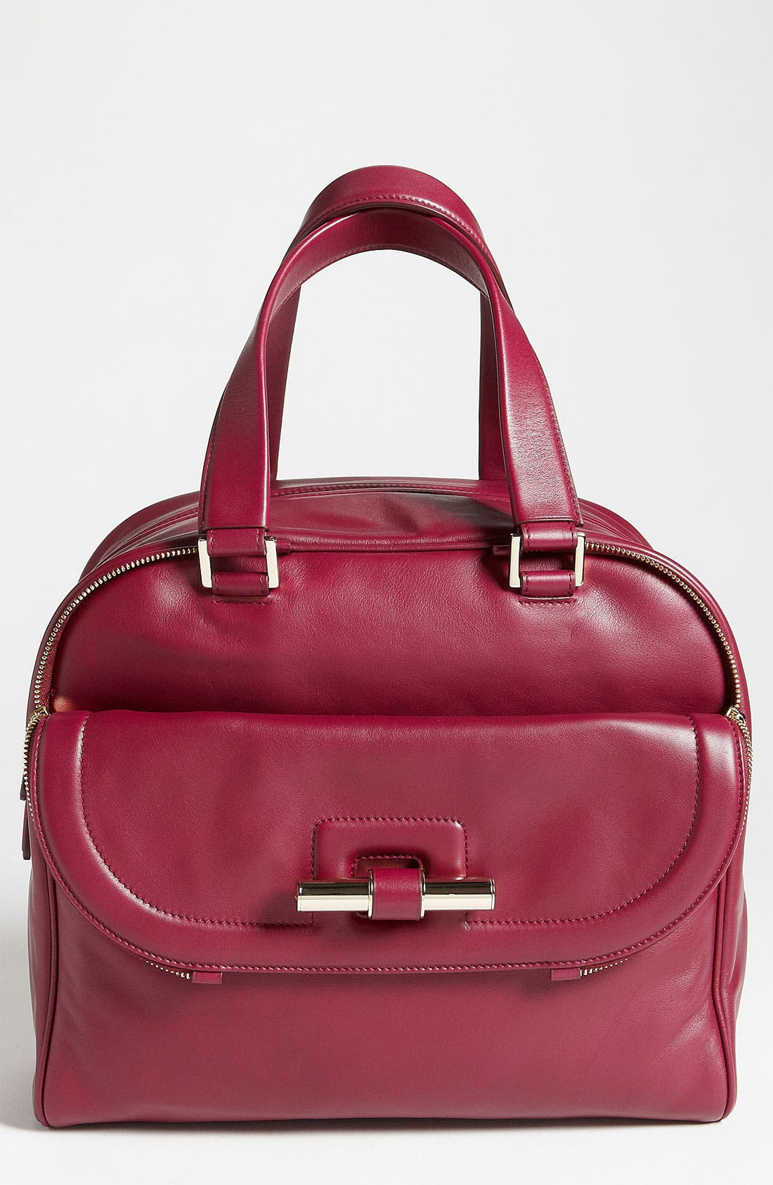 Main Image - Jimmy Choo 'Justine - Large' Calfskin Leather Satchel