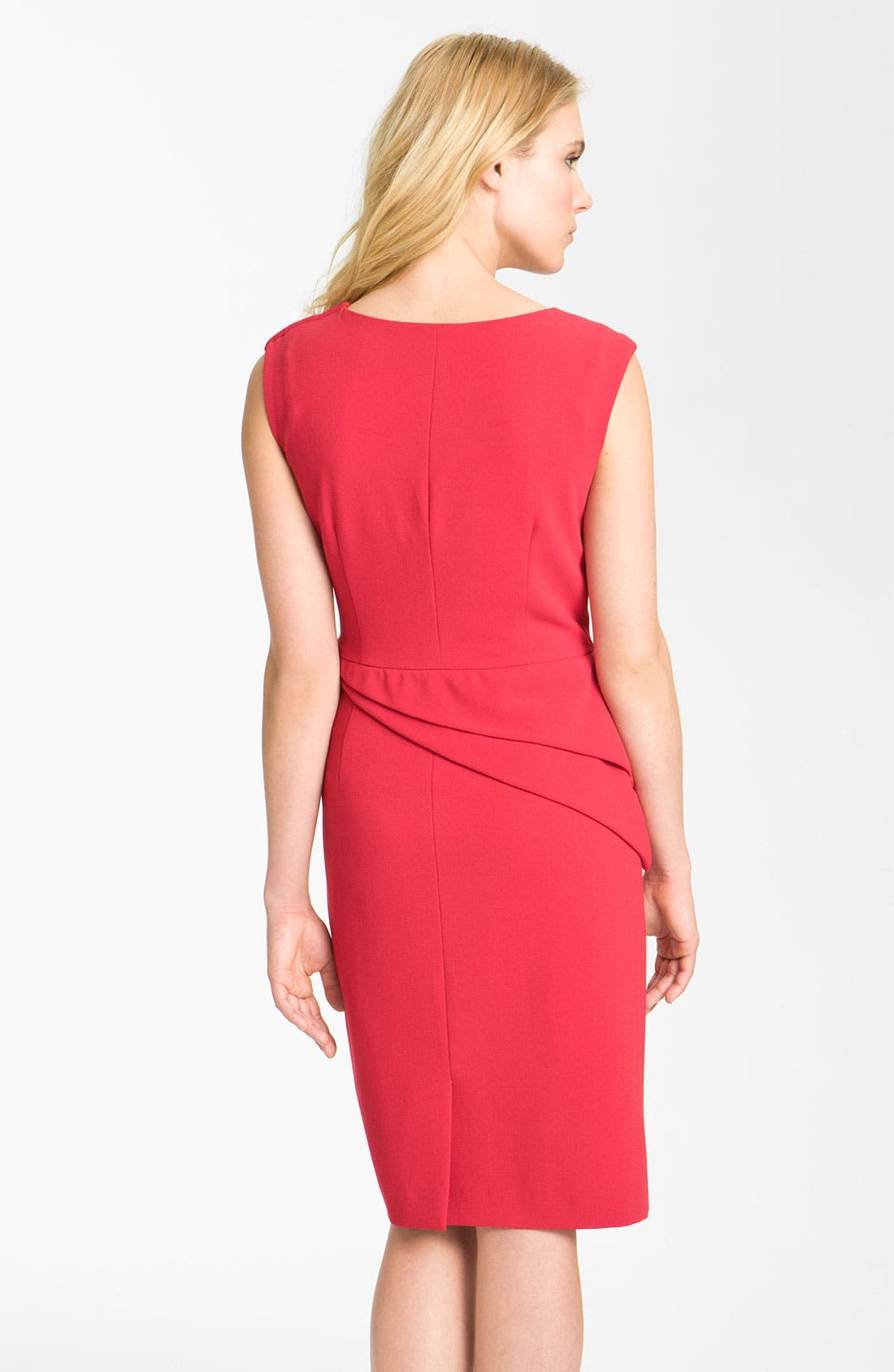 Alternate Image 2  - Adrianna Papell Asymmetrical Peplum Crepe Sheath Dress