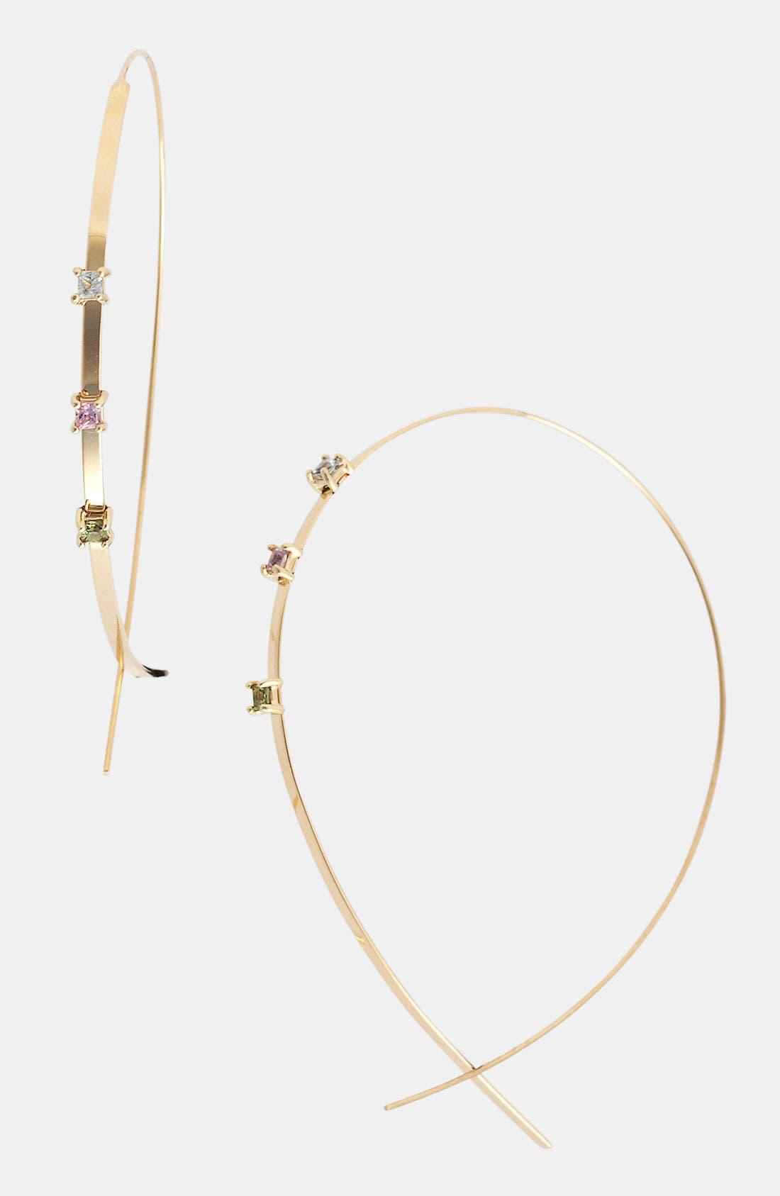 Alternate Image 1 Selected - Lana Jewelry 'Large Ombré Upside Down' Hoop Earrings