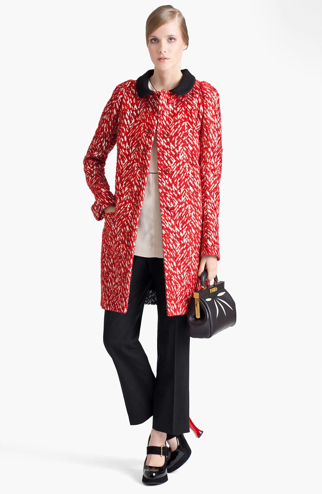 Alternate Image 5  - Marni 'Mini' Leather Frame Bag