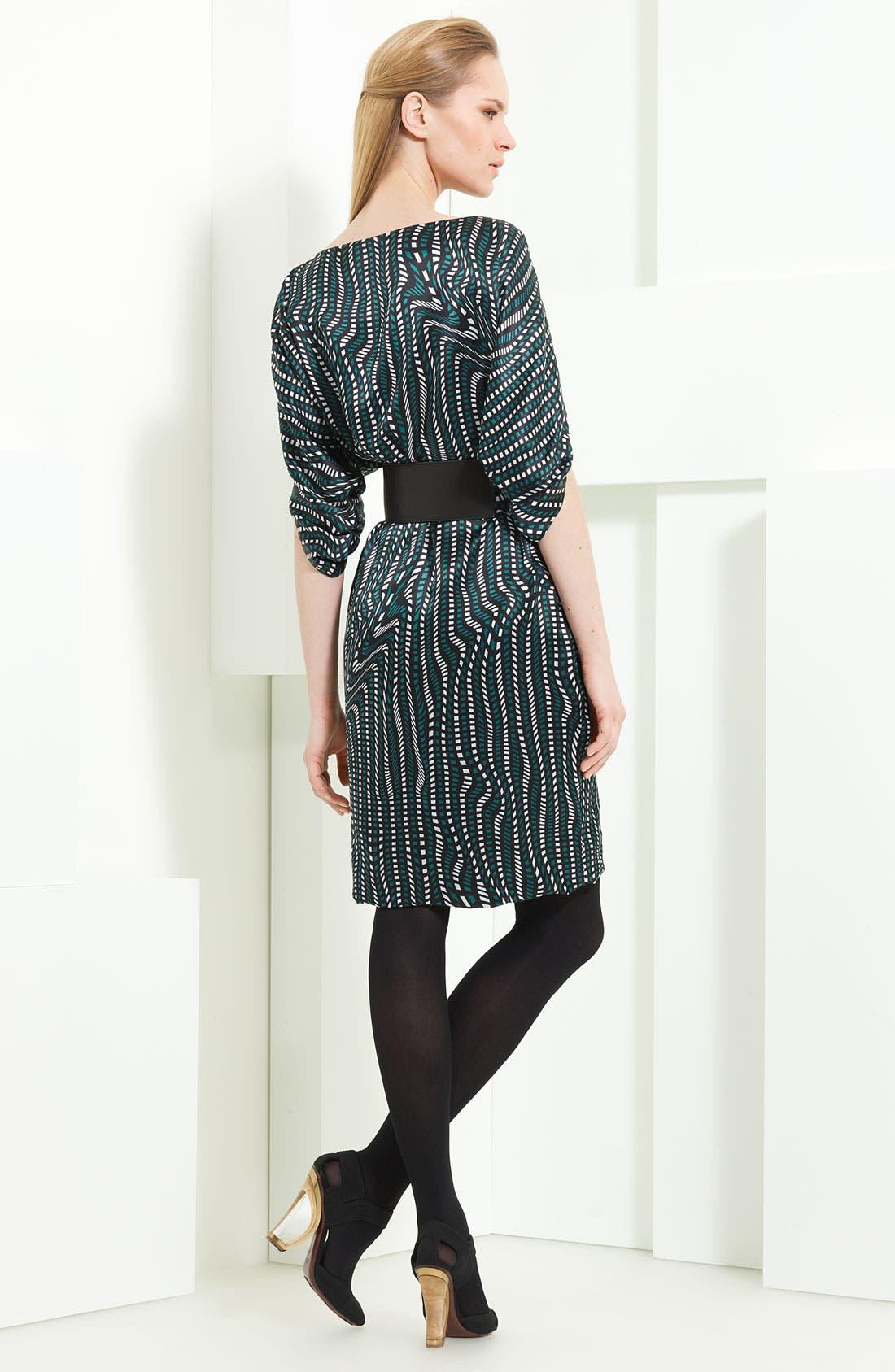 Alternate Image 2  - Armani Collezioni 'Geo Wave' Print Silk Dress