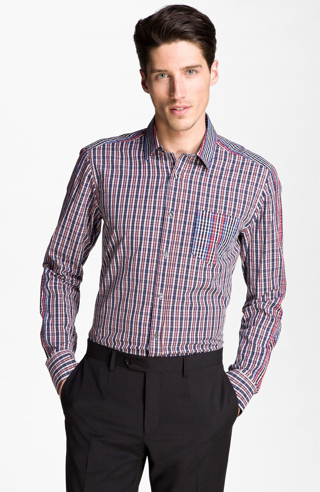 Alternate Image 1 Selected - Dolce&Gabbana Plaid Sport Shirt