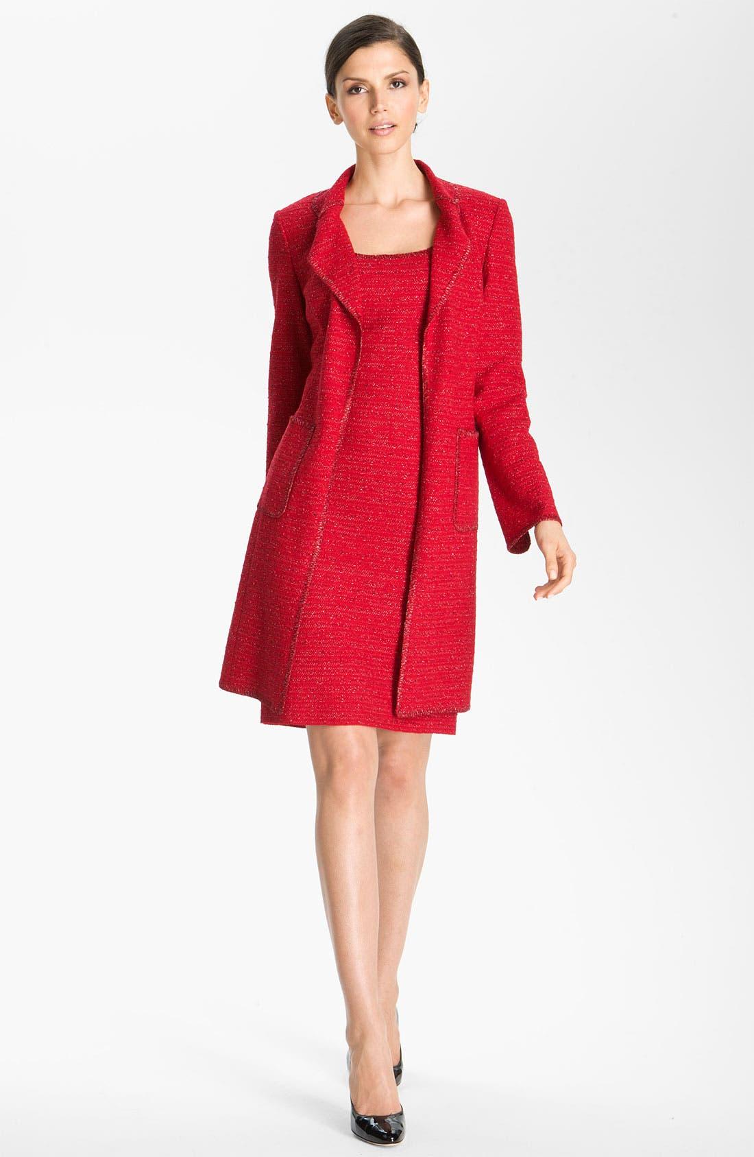 Alternate Image 3  - St. John Collection Ruby Tweed Sheath Dress