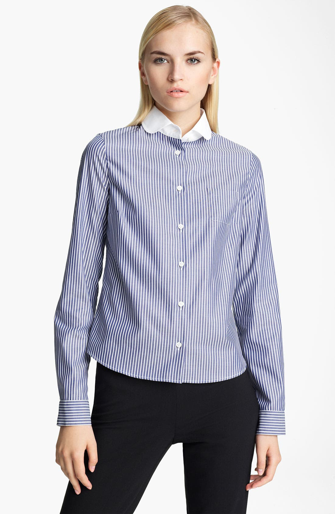 Alternate Image 1 Selected - Jil Sander Navy Stripe Shirt