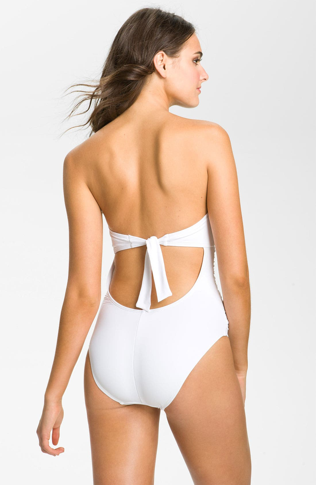 Alternate Image 2  - La Blanca Shirred Back Keyhole One Piece Swimsuit