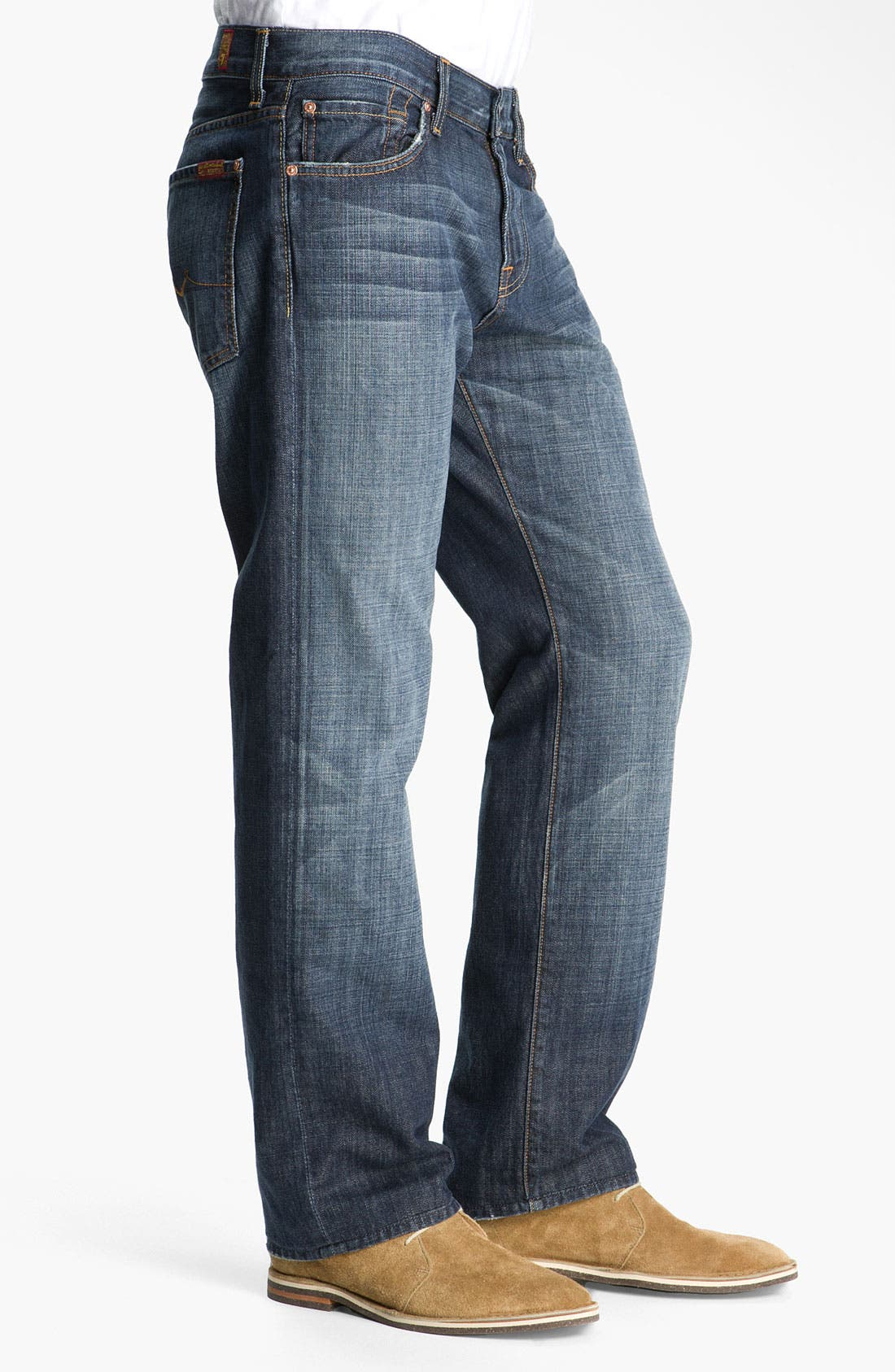 Alternate Image 3  - 7 For All Mankind® 'Austyn' Relaxed Fit Jeans (New York Dark)