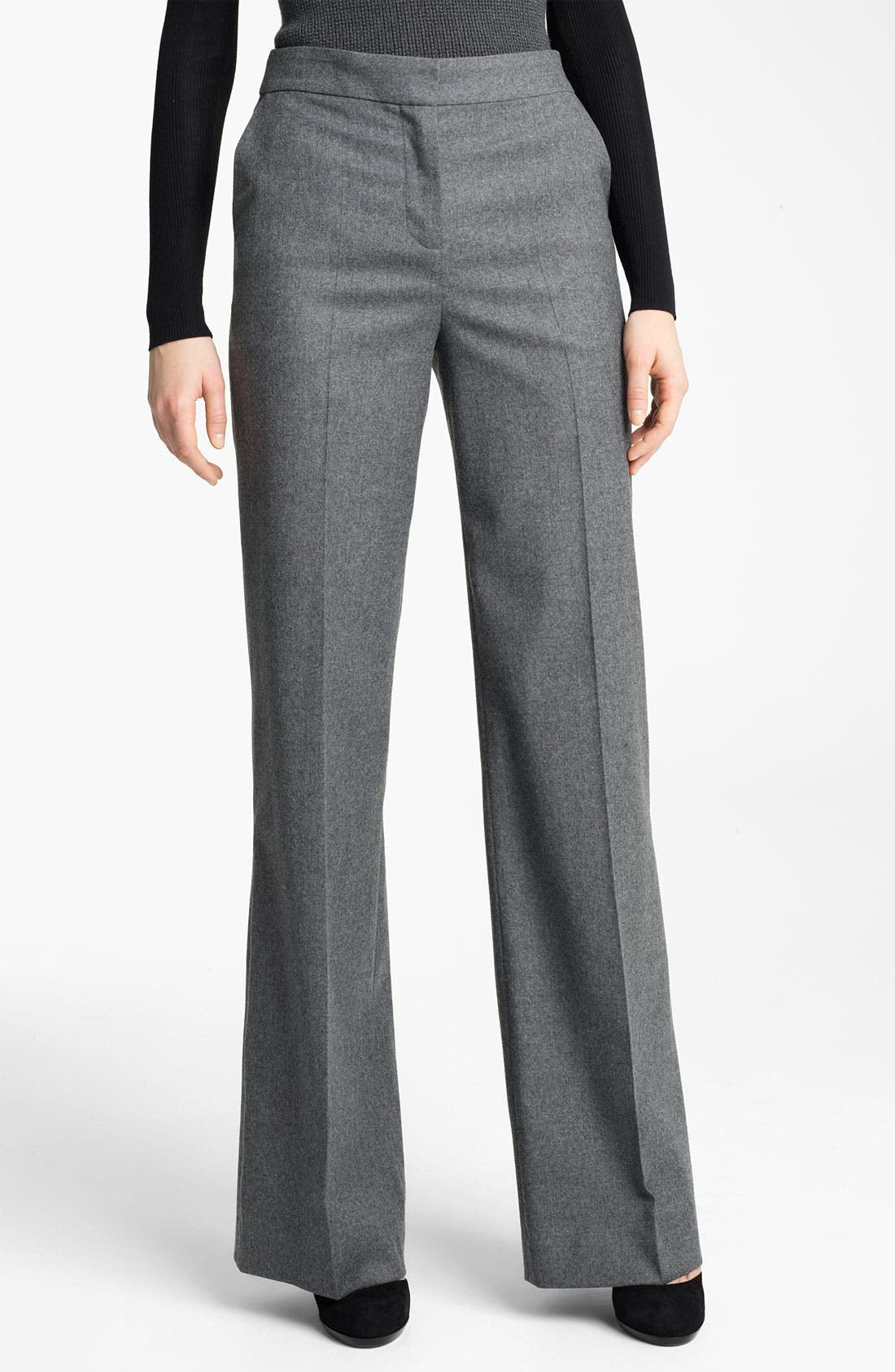 Alternate Image 1 Selected - Reed Krakoff Wide Leg Stretch Flannel Pants