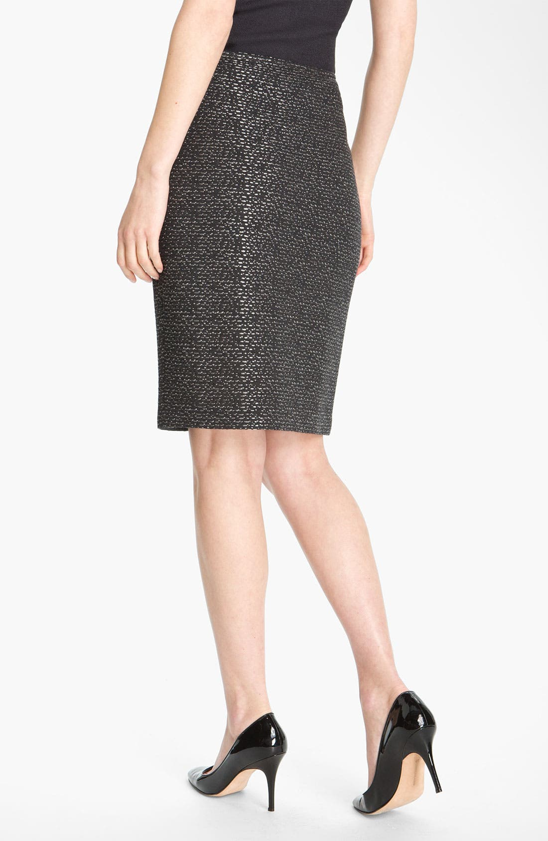 Alternate Image 3  - St. John Collection Pebble Dash Tweed Knit Skirt