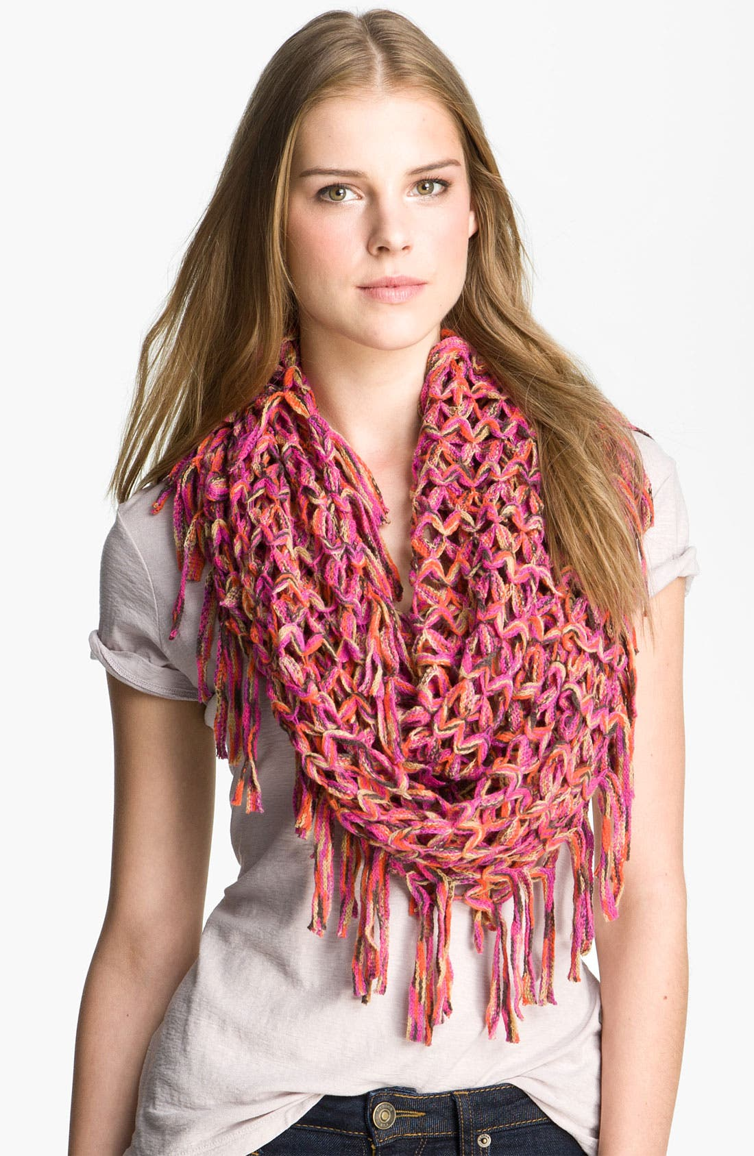 Main Image - Steve Madden 'Space Dyed Fishnet' Infinity Scarf