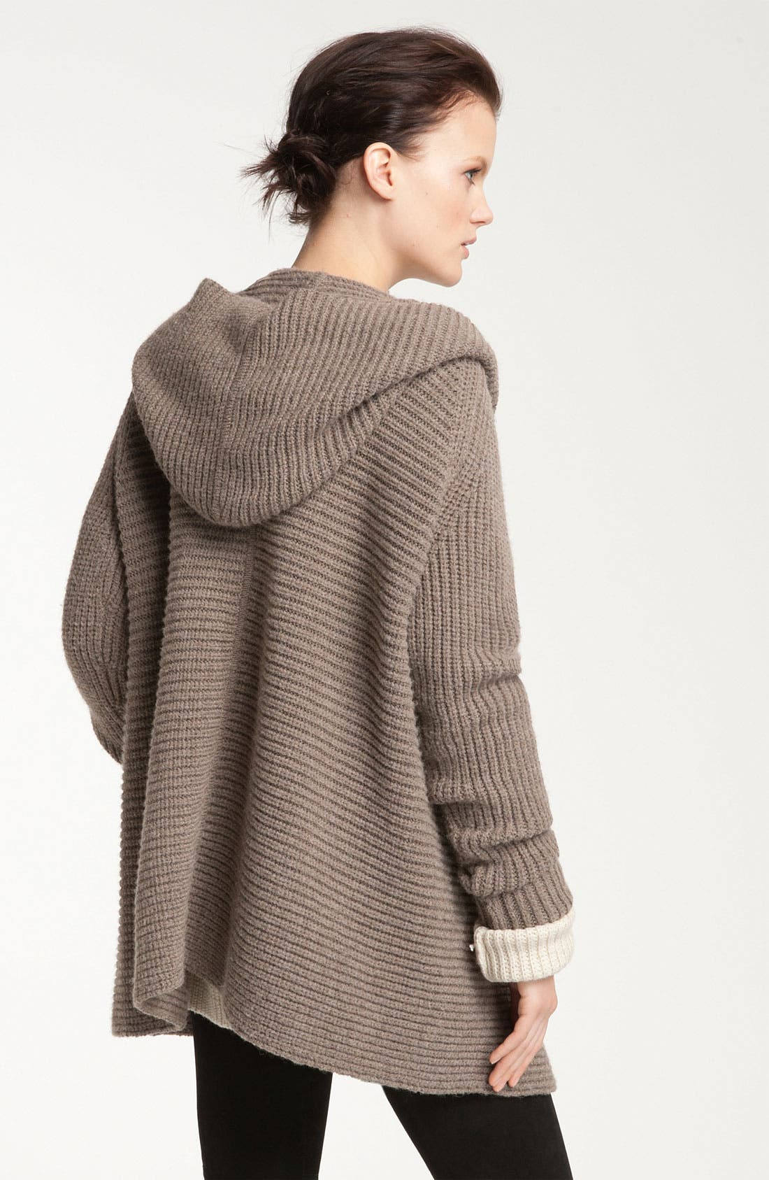 Alternate Image 2  - Vince Hooded Ribbed Cardigan